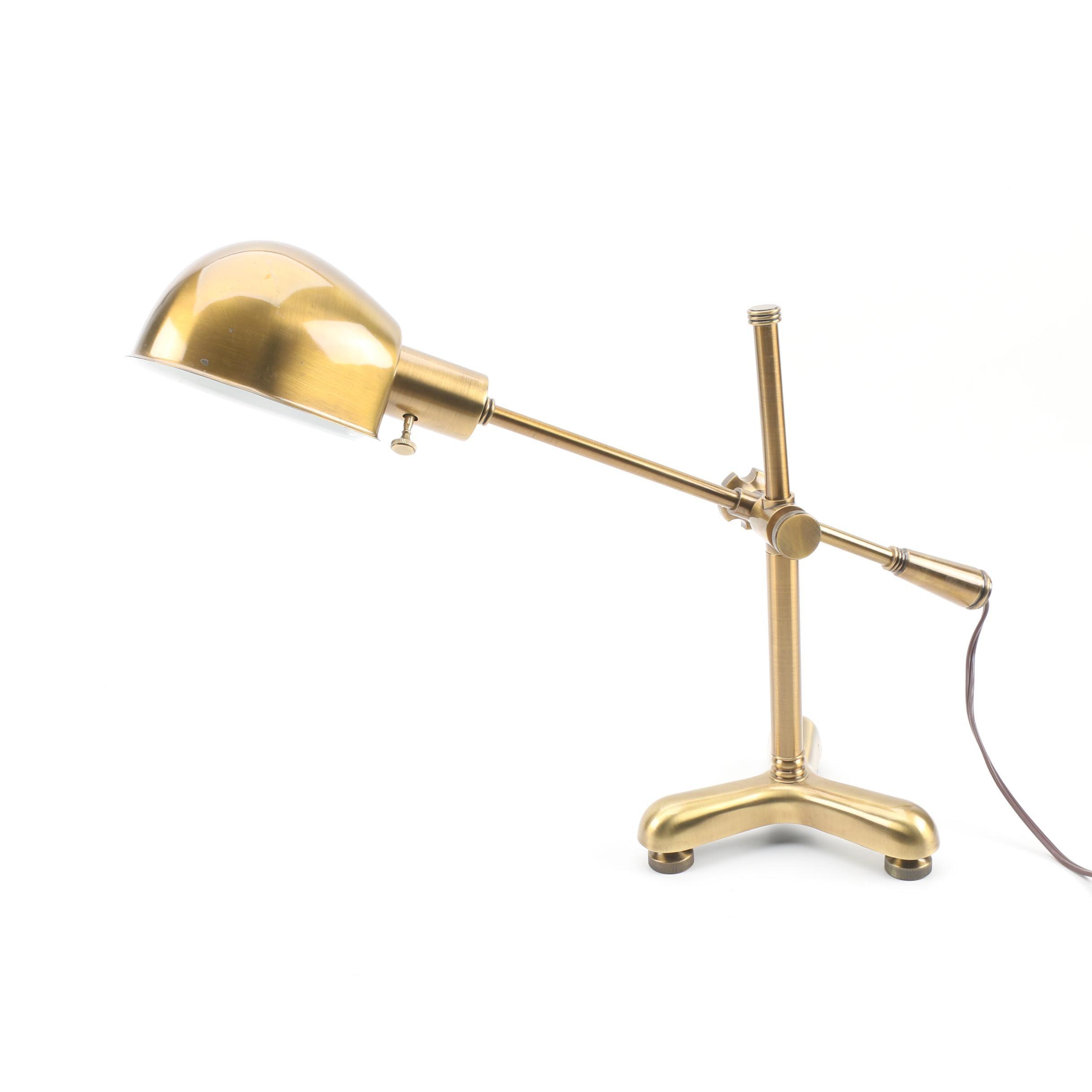 Ralph Lauren Home Lacquered Brass Pharmacy Boom Arm Desk Lamp
