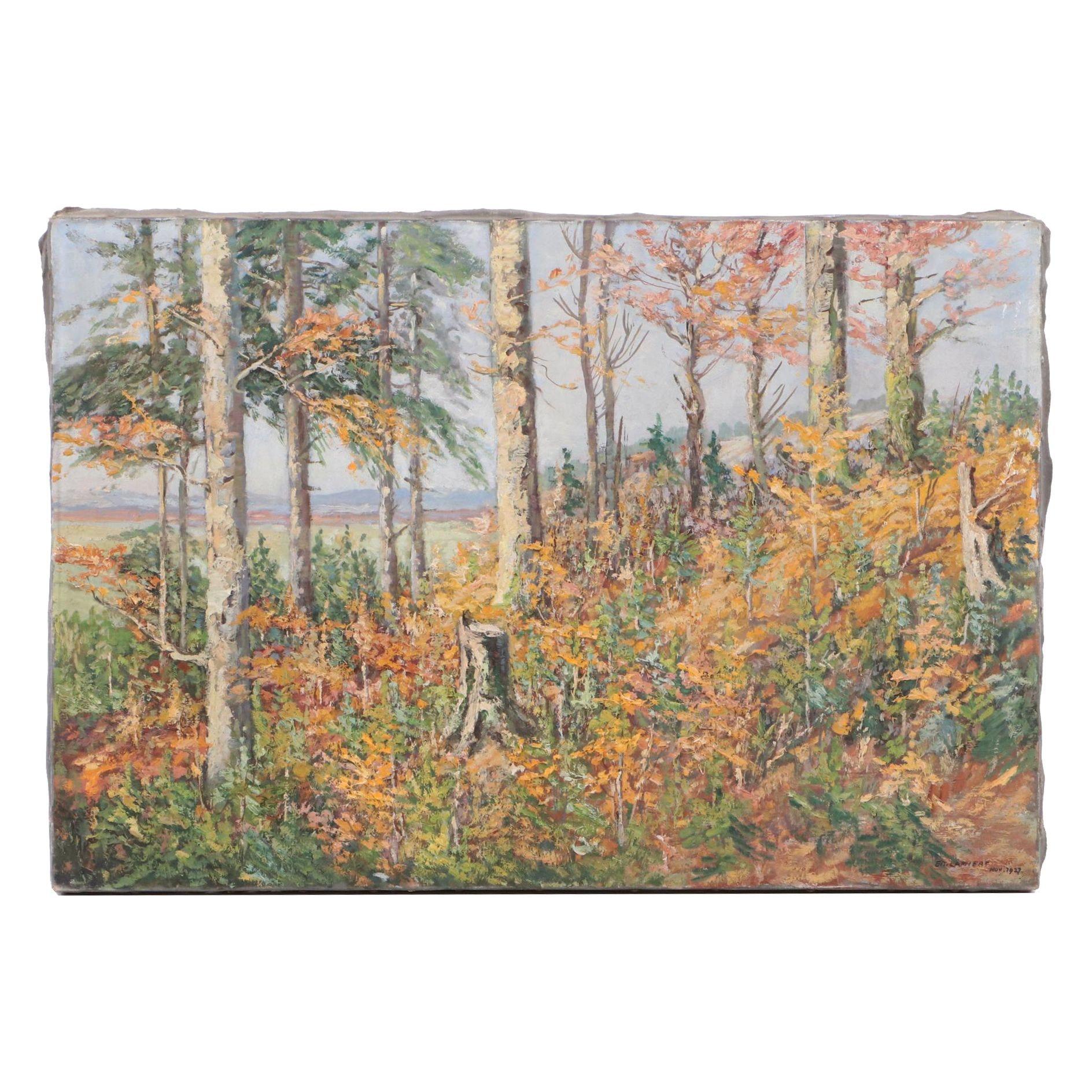 Eduard Lammert 1927 Oil Landscape Painting