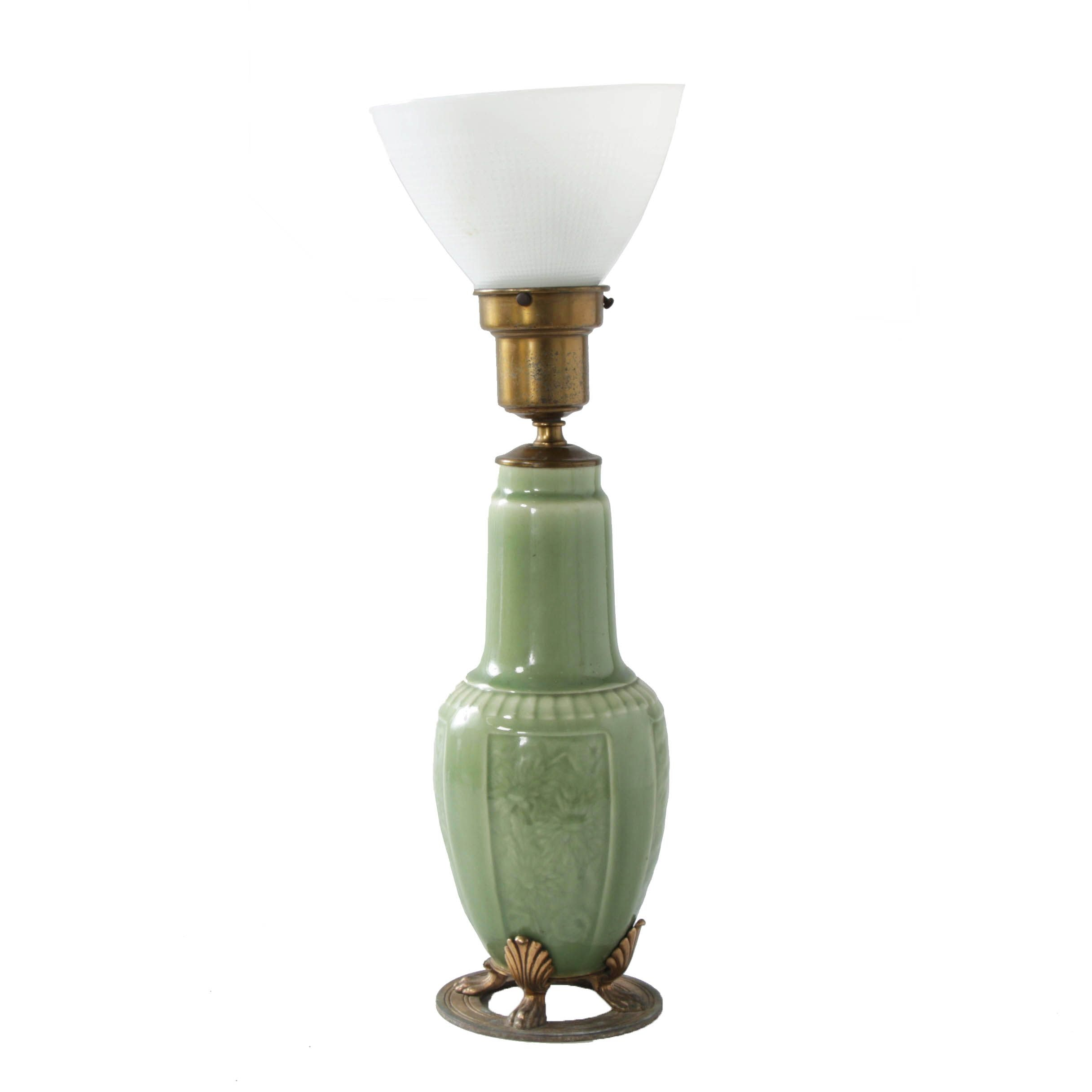 Rookwood Pottery Celadon Table Lamp