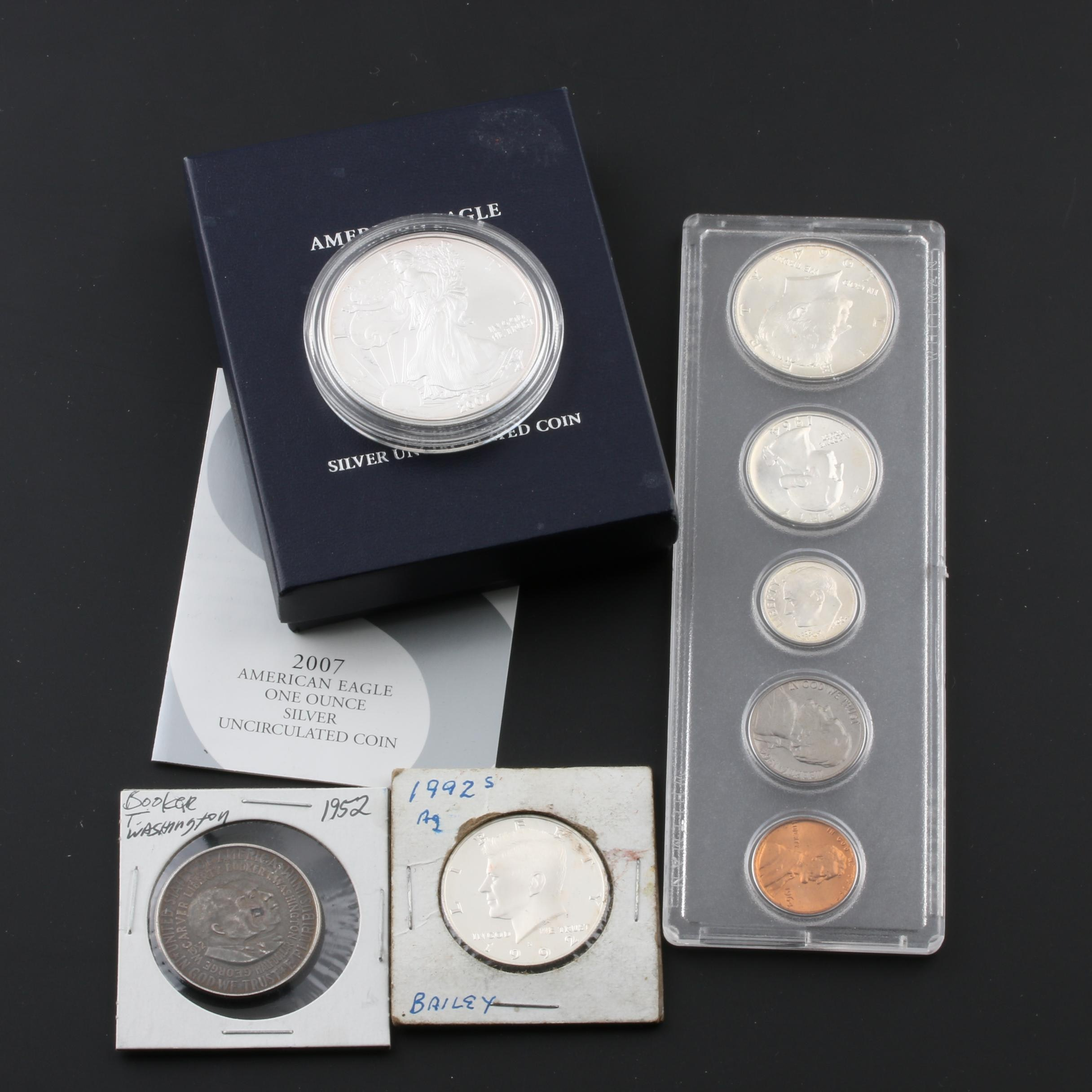 Group of U.S. Silver Coins and a 1964 U.S. Type Coin Set