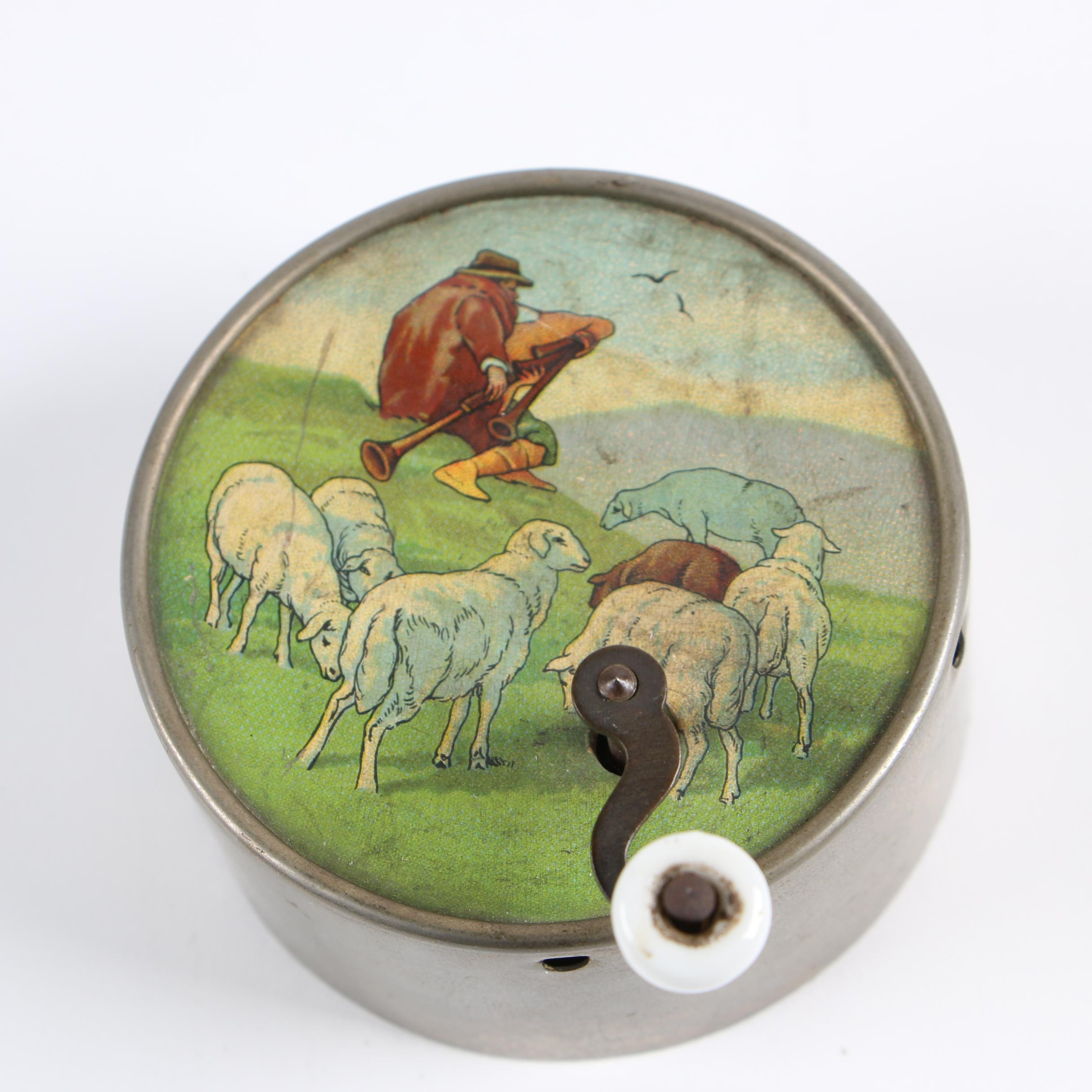 Manivelle (Hand Cranked) Music Box with Printed Lithographic Inserts