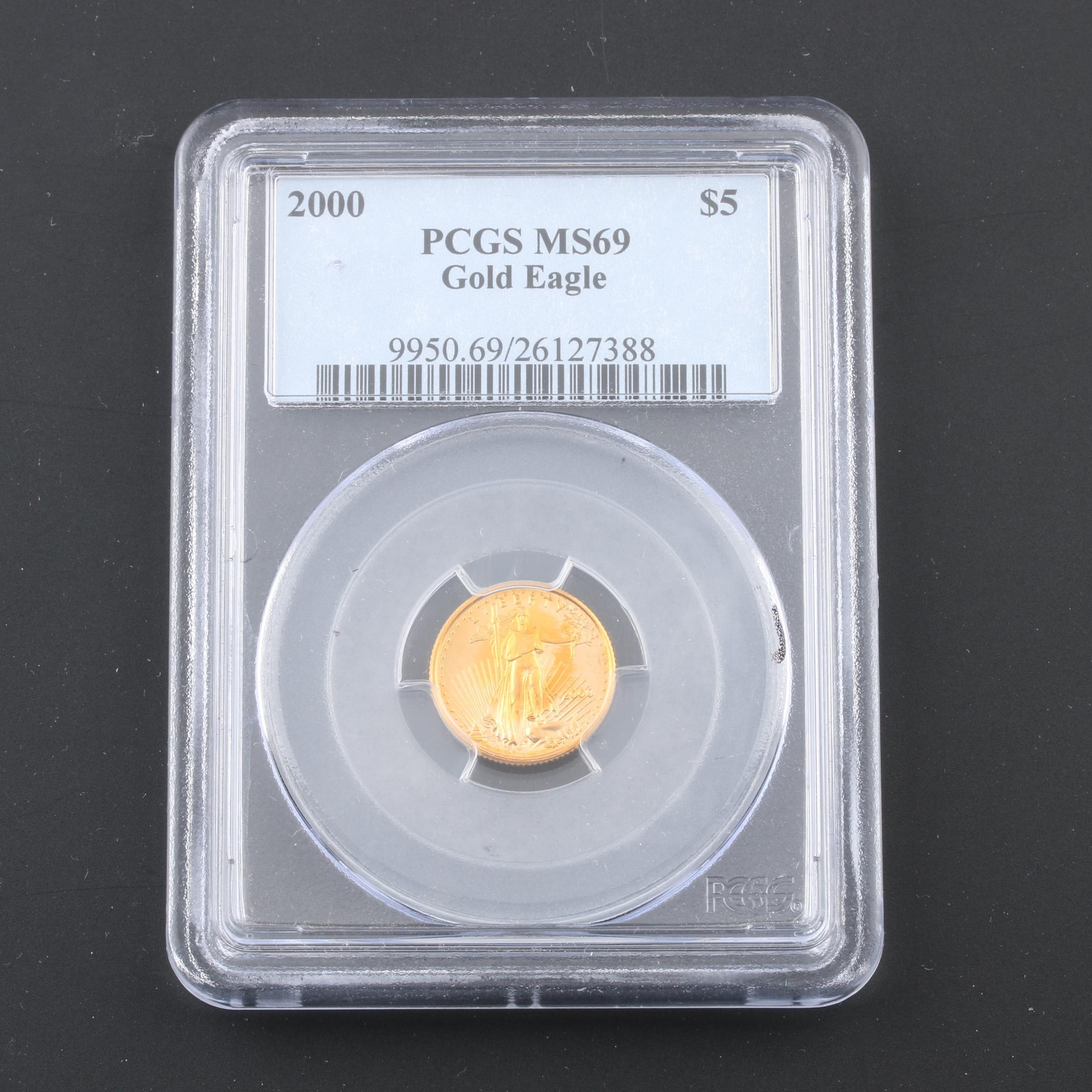 PCGS Graded MS69 1/10 Oz. $5 Gold Eagle Coin