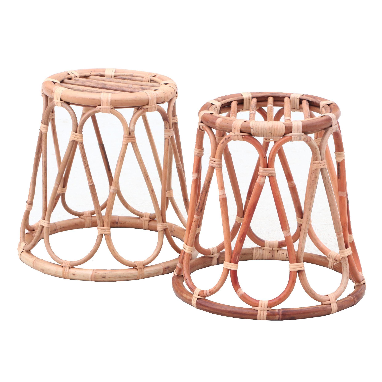 Bamboo and Rattan Stools