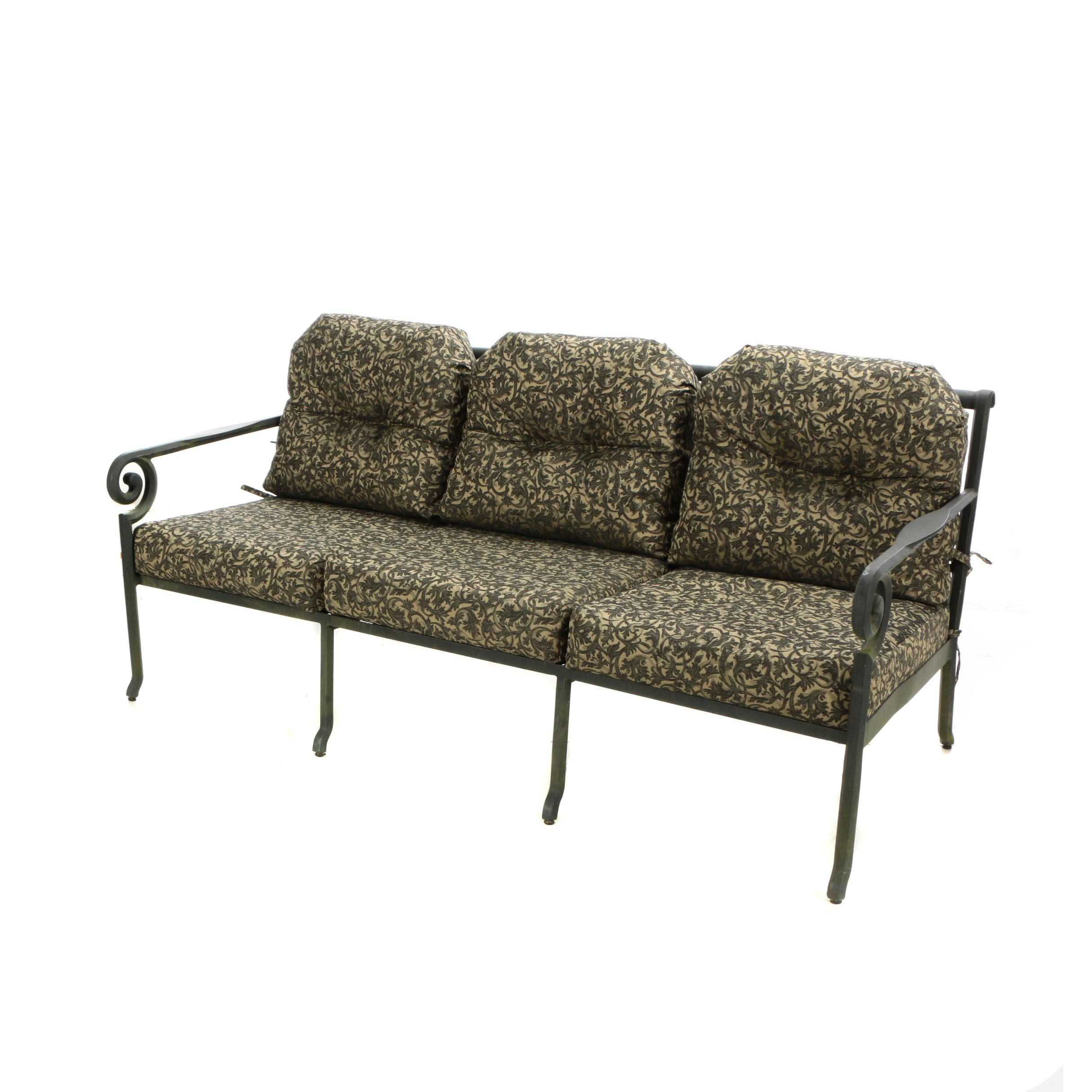 Contemporary Cast-Aluminum Patio Sofa by Windham Castings