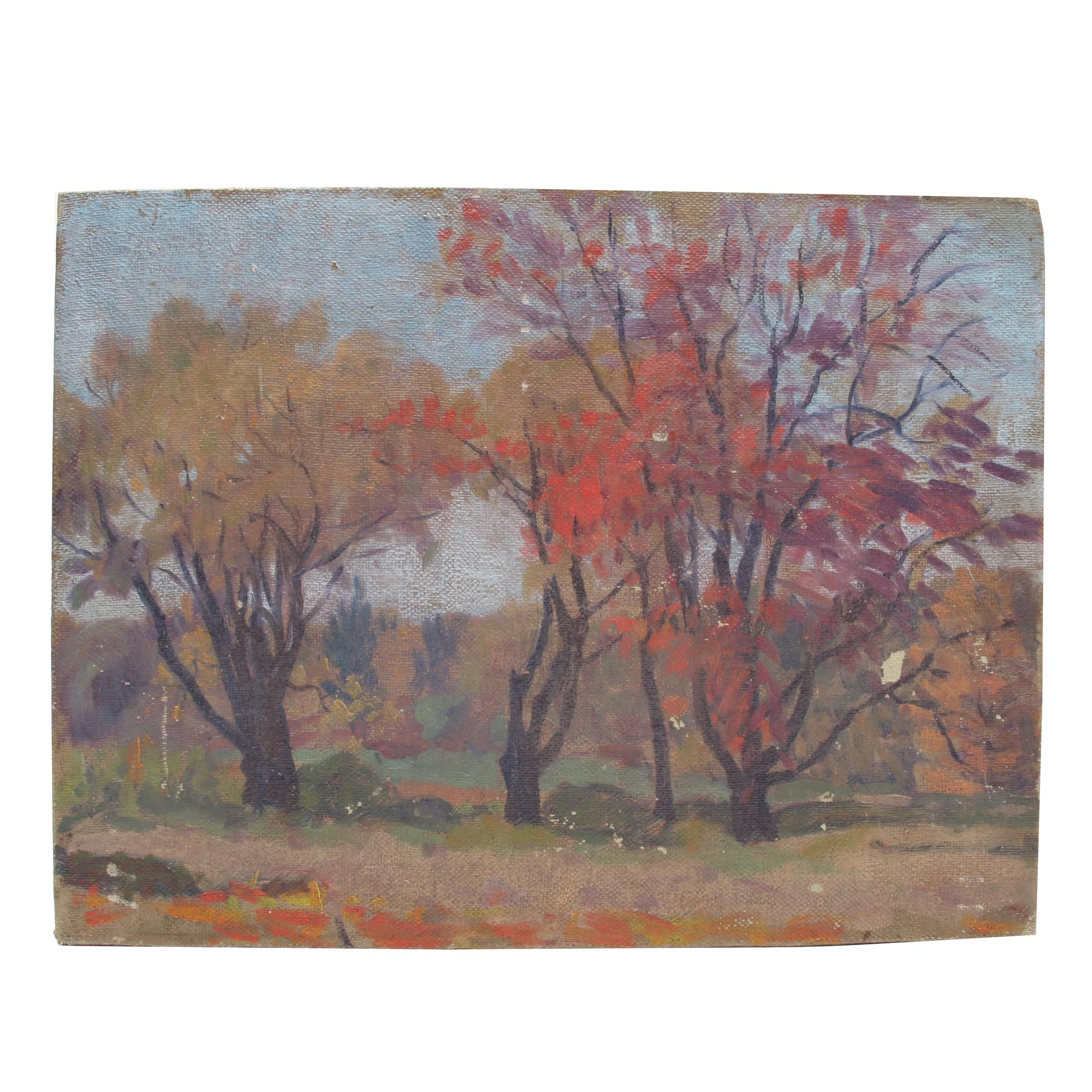 Oil Painting of Autumn Landscape
