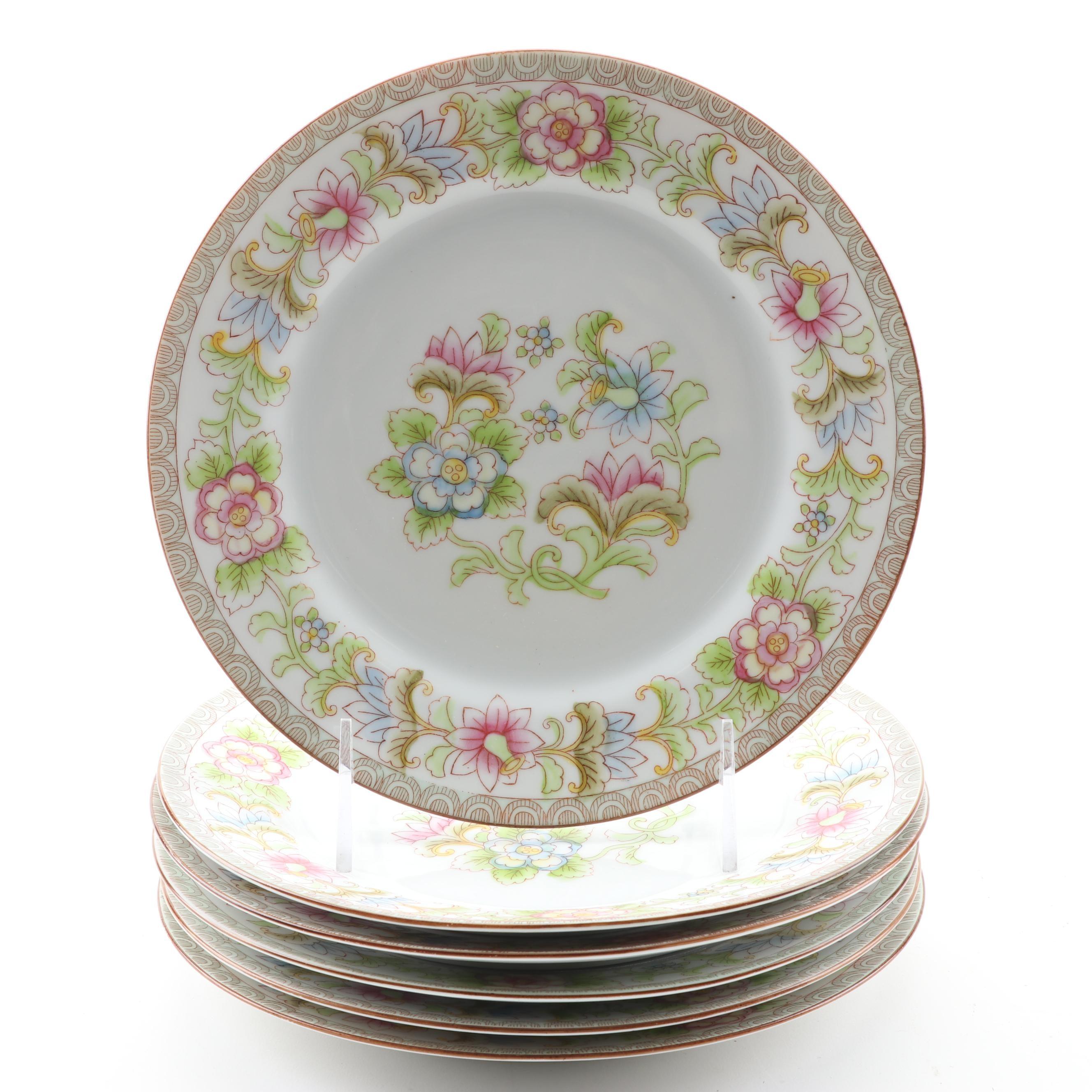 "Noritake ""The Flamengo"" Porcelain Salad Plates"