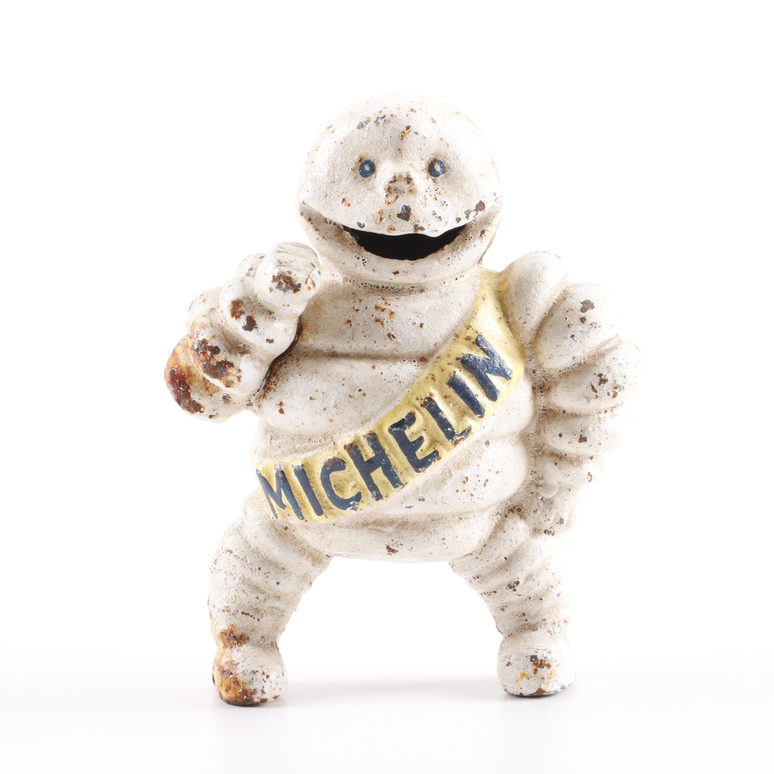 Reproduction Cast Iron Michelin Man Coin Bank