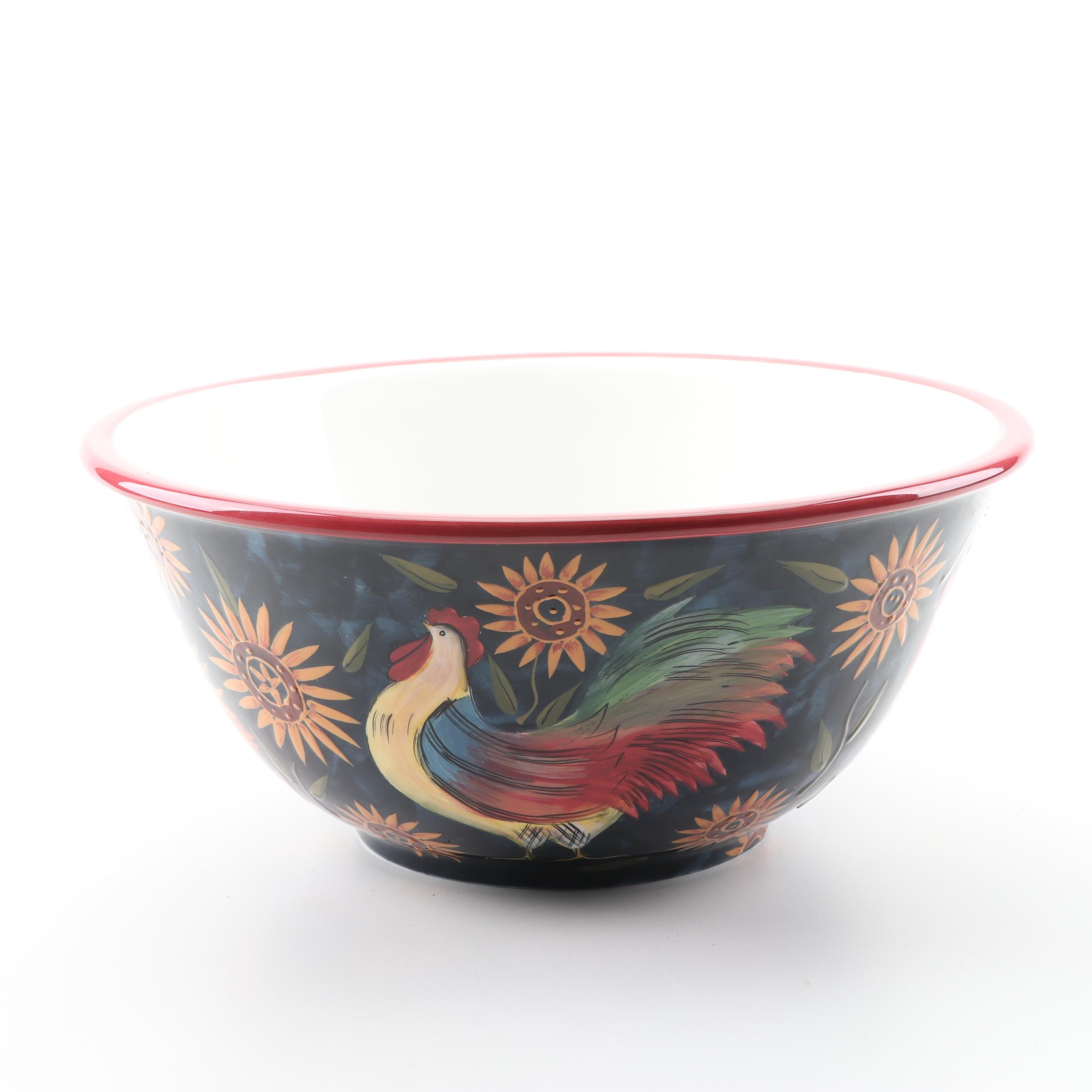 Susan Winget Ceramic Salad Bowl by Certified International