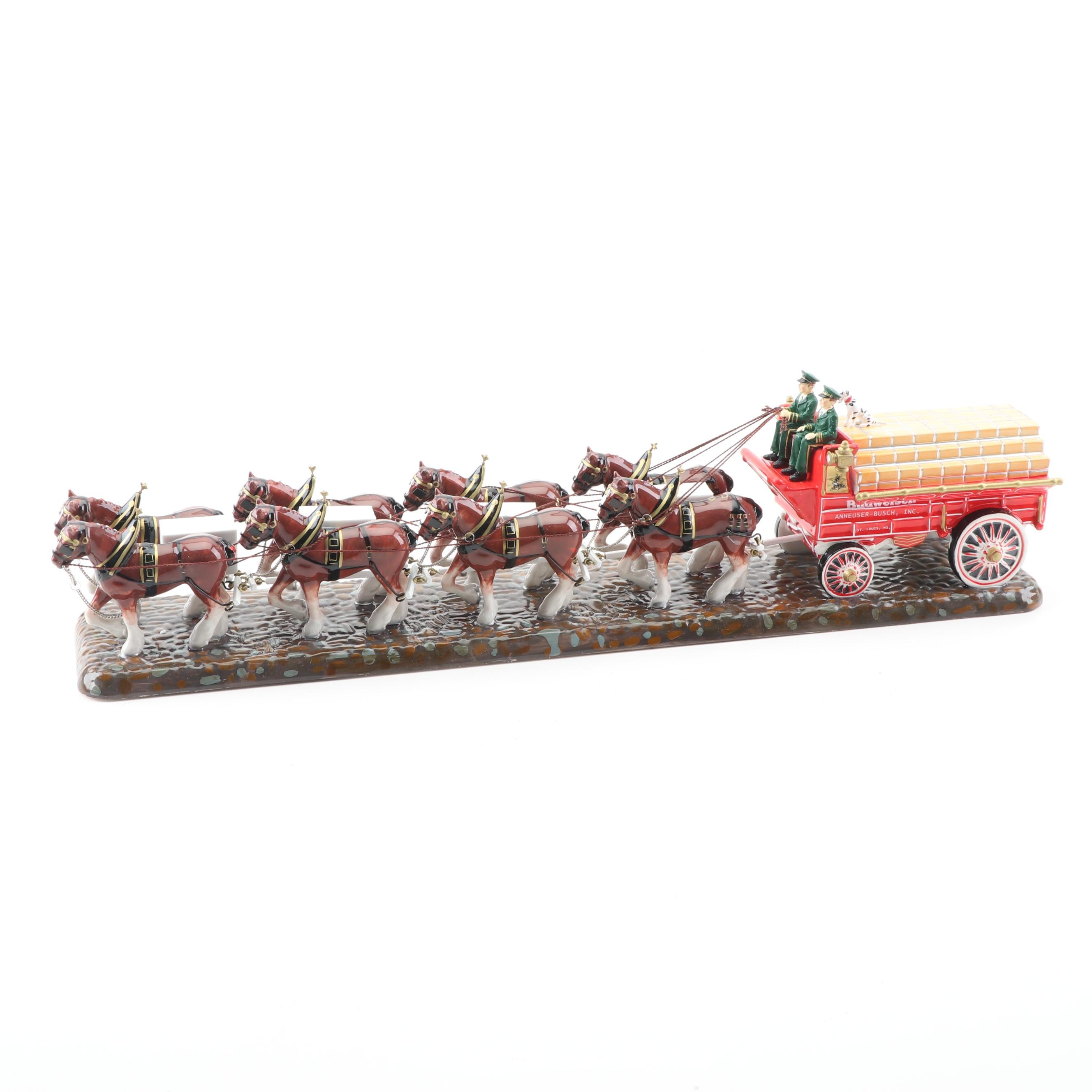 "Department 56 The Original Snow Village ""Budweiser Clydesdales"" Group"