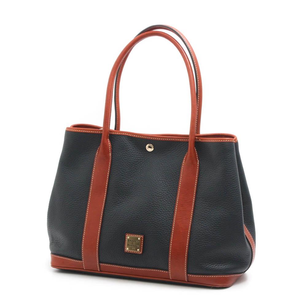 Dooney & Bourke Pebbled Two-Tone Leather Handbag