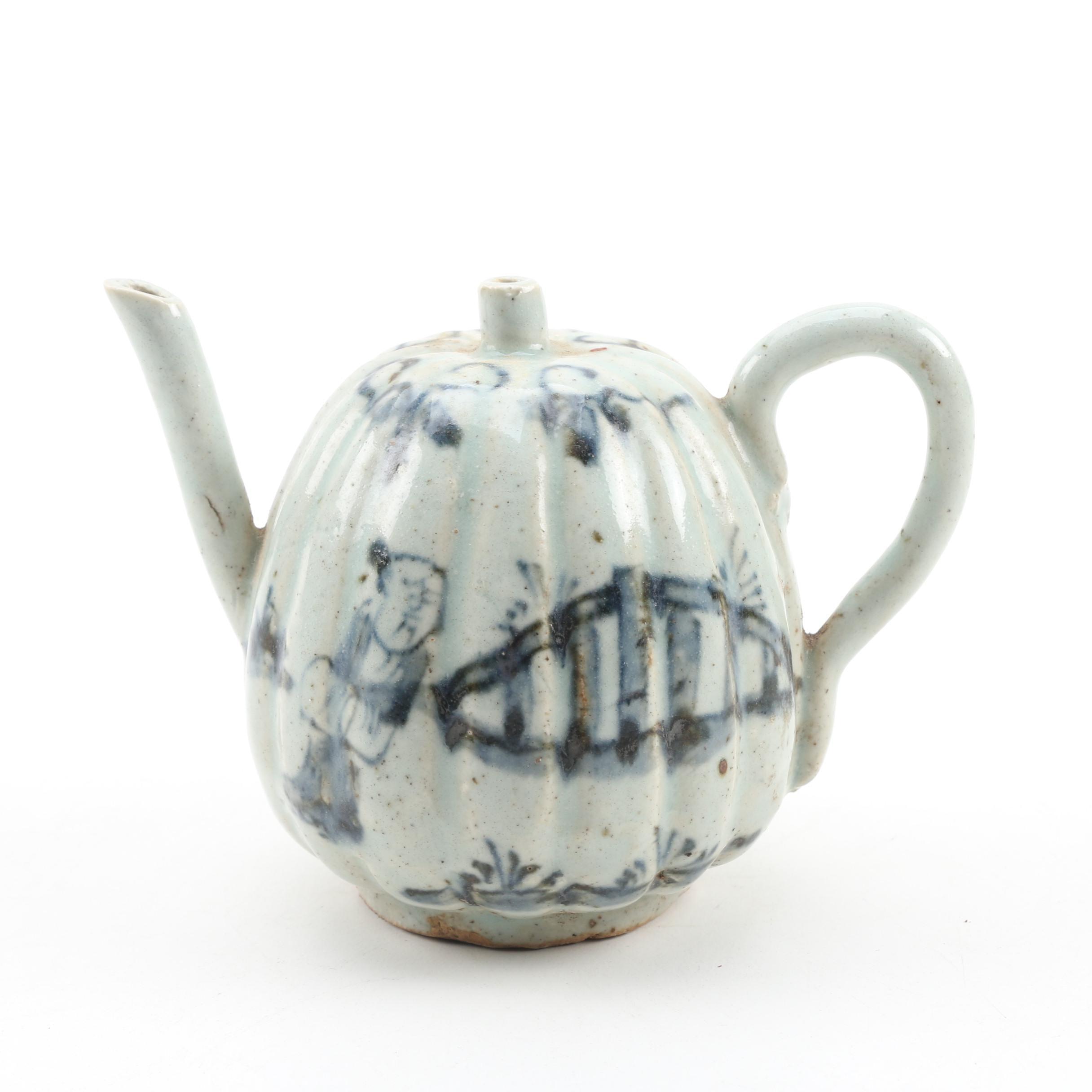 Japanese Imari Porcelain Calligraphy Water Dropper, Late 19th Century