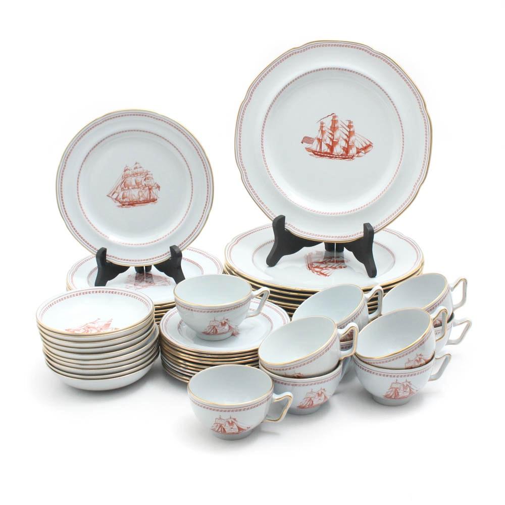 "Copeland Spode ""Trade Winds Red"" Stone China Dinnerware"