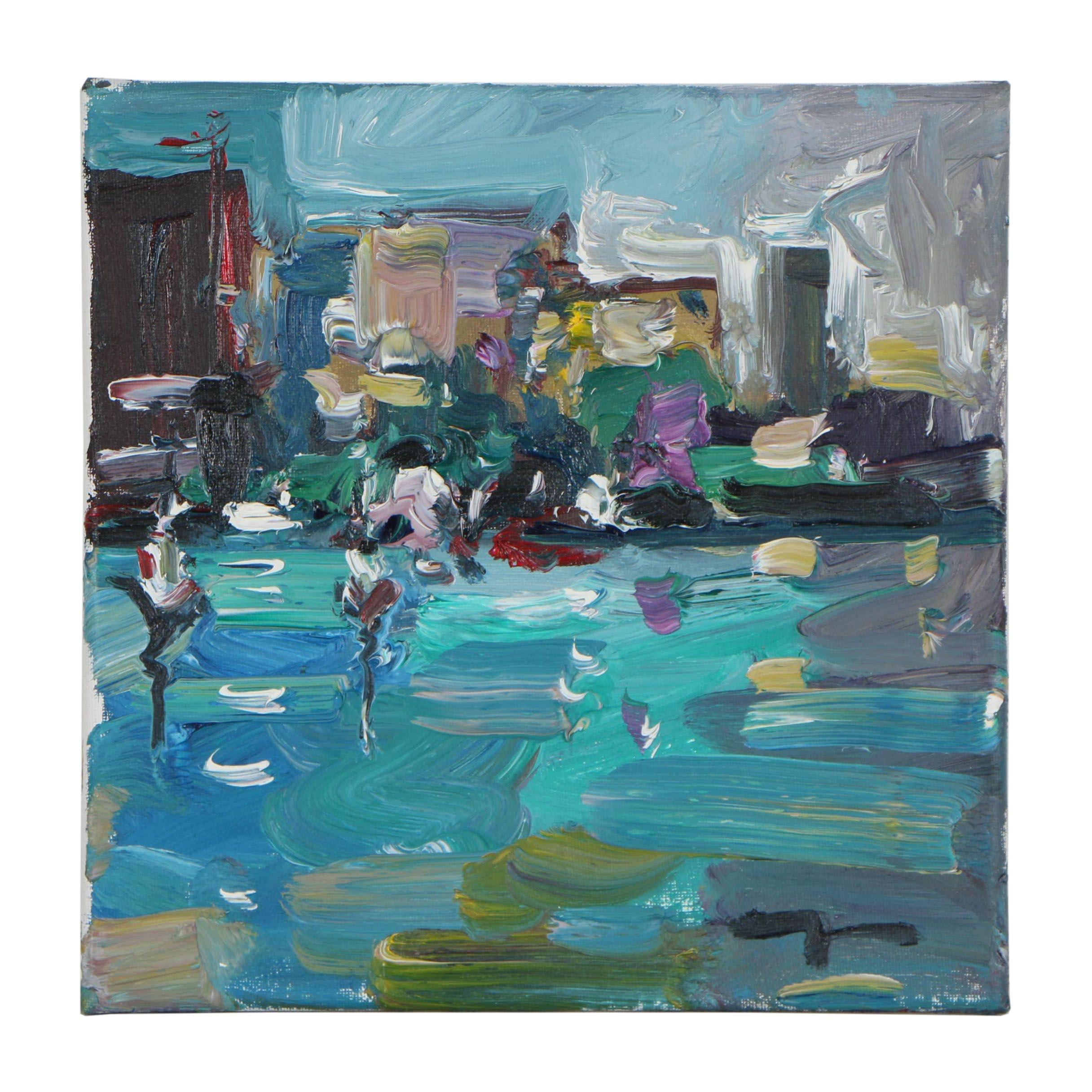 "Jose Trujillo Oil Painting ""Lights"""