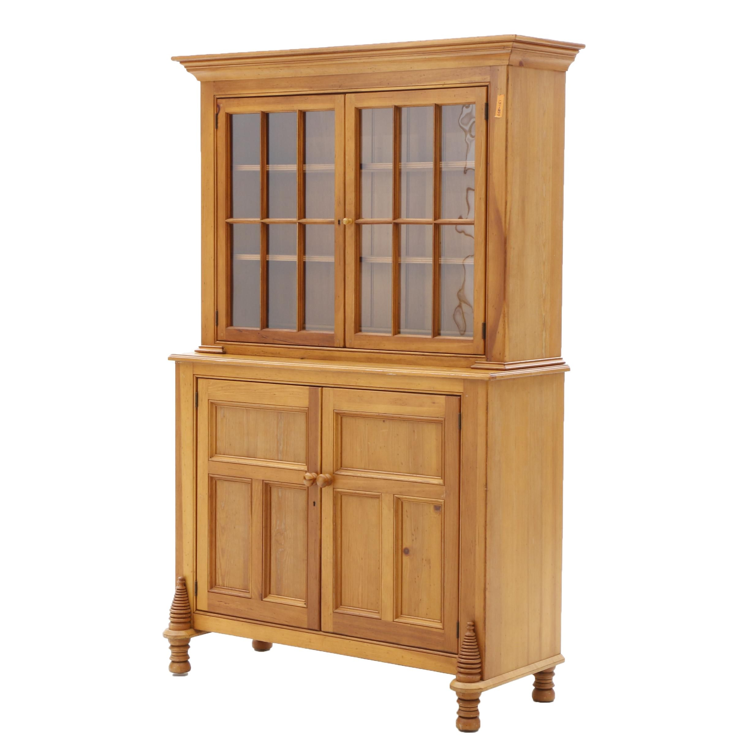 "Lexington Furniture Illuminated ""Bee Hive"" 2-Piece China Hutch and Cabinet"