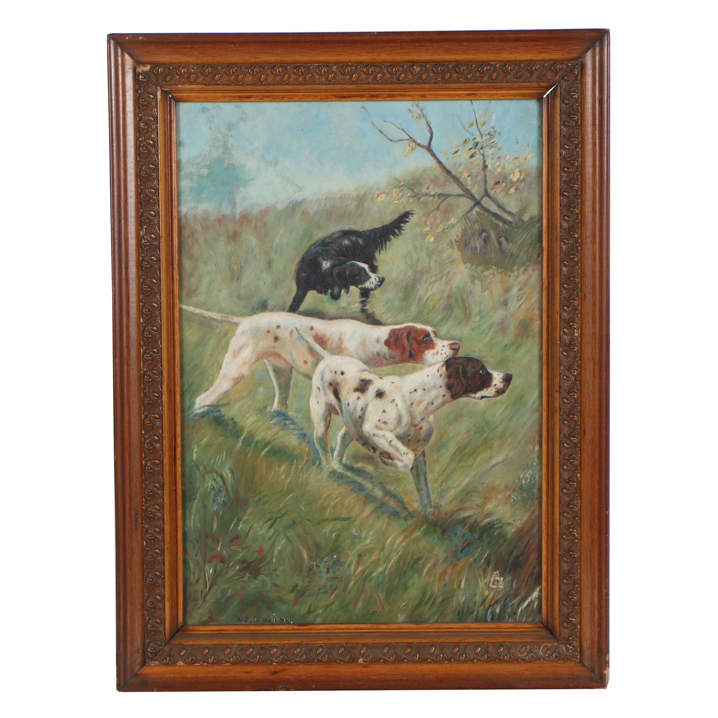 William L Kimball 1894 Oil Painting