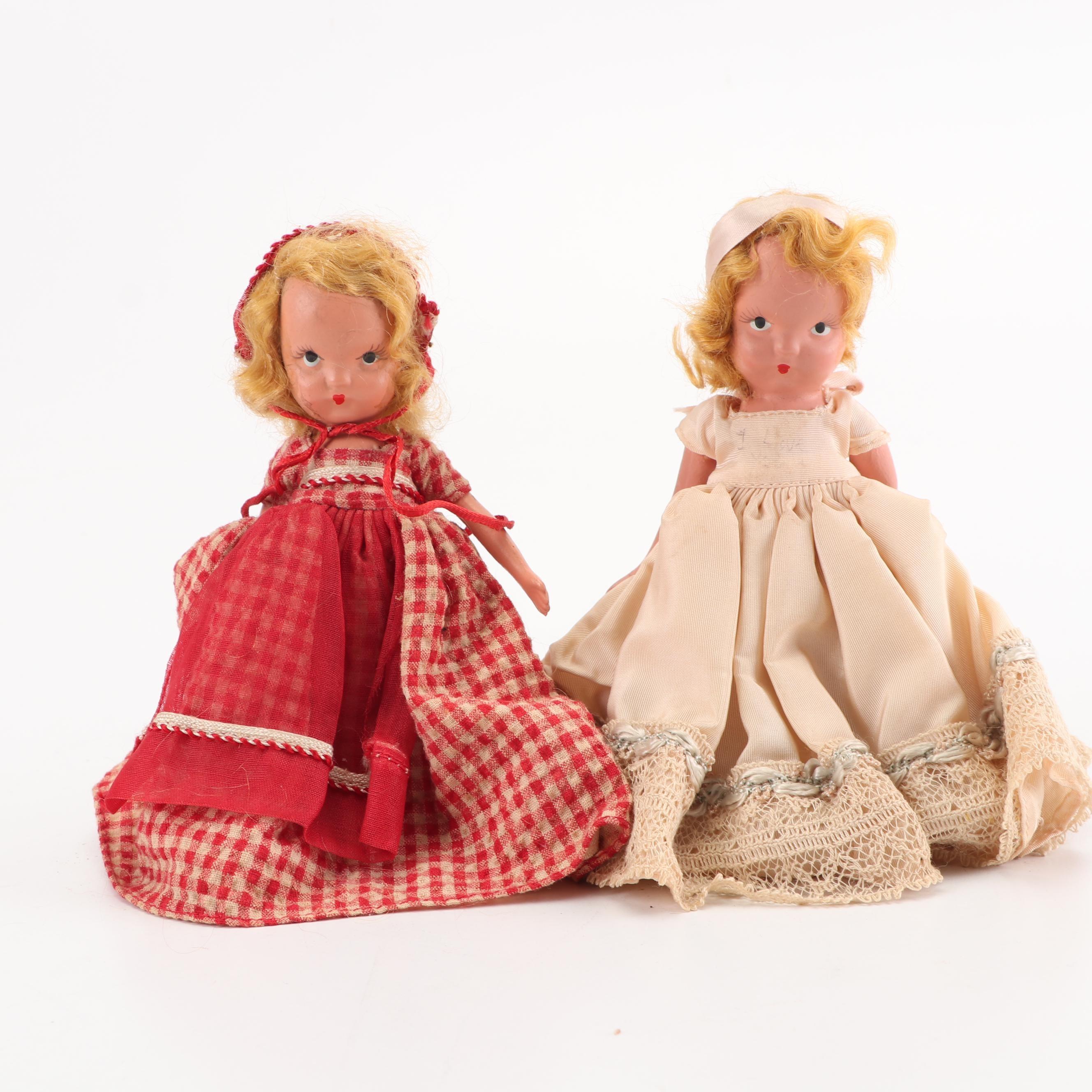 """Nancy Ann """"American Girl Series"""" Storybook Dolls, 1950s"""