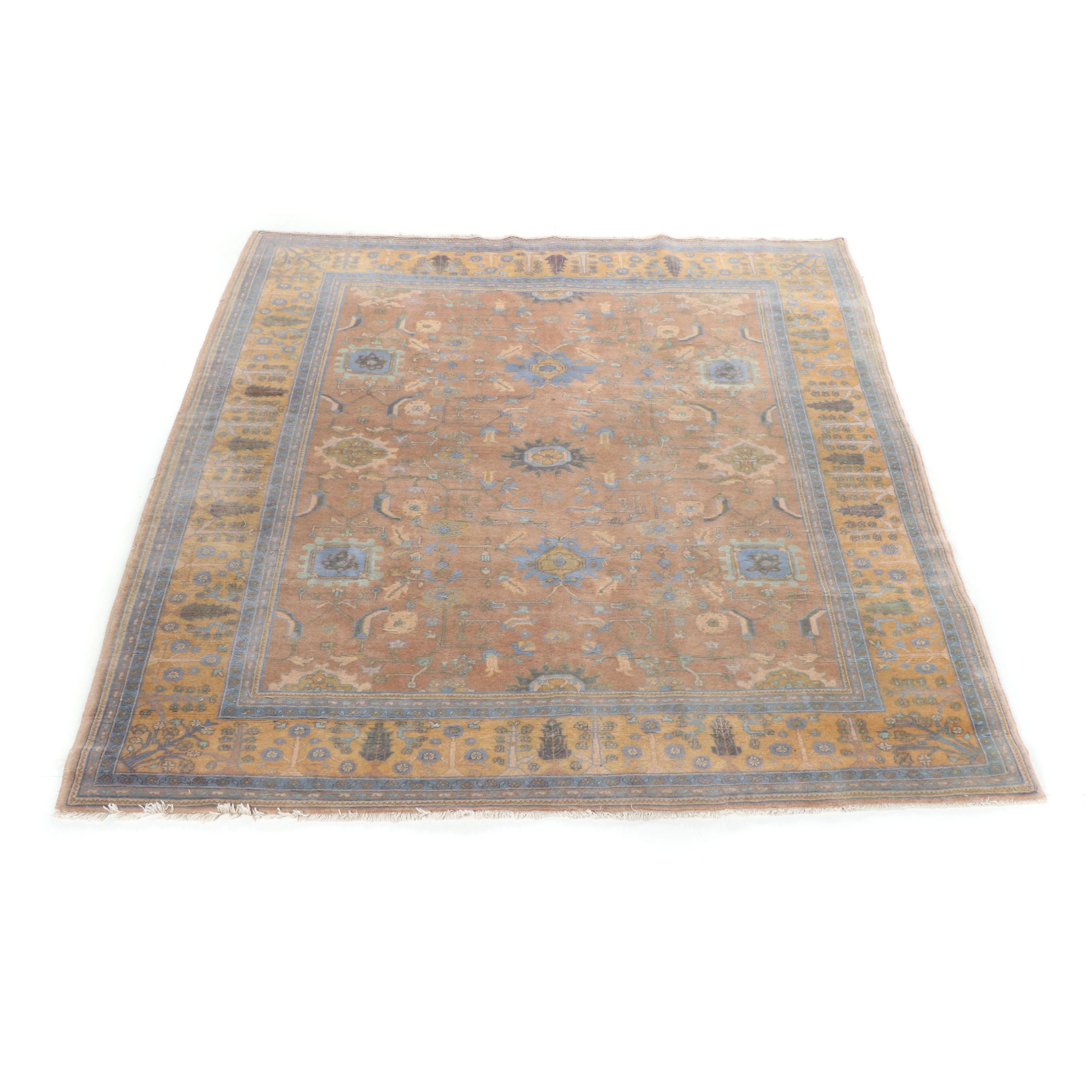 Hand-Knotted Persian Veramin Wool Rug