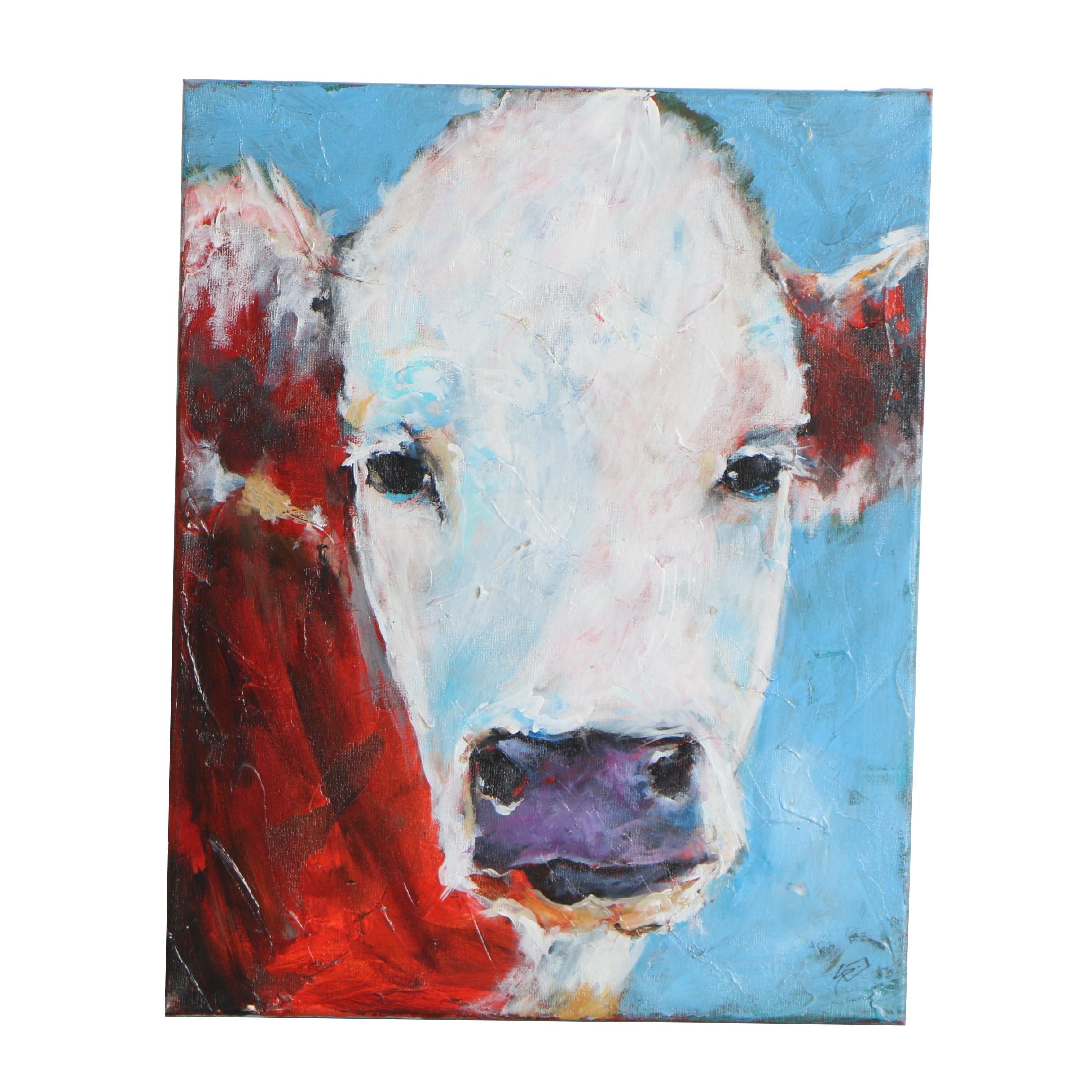 """Sue Dion Oil Painting """"Bessie"""""""