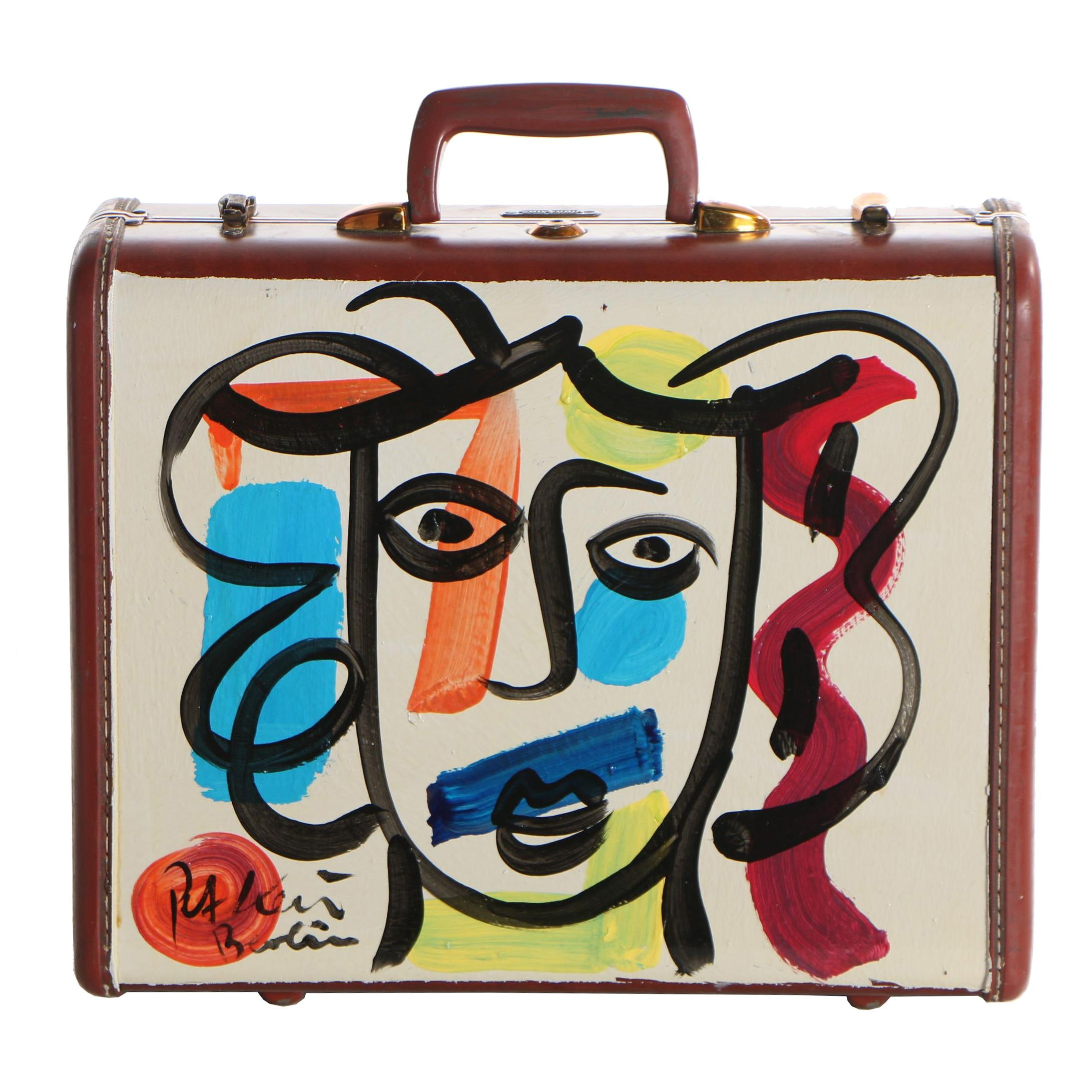 Peter Keil Oil Paintings on Samsonite Hard Shell Suitcase