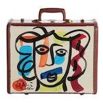 Peter Keil Oil Paintings on Samsonite Hard Shell Suitcase
