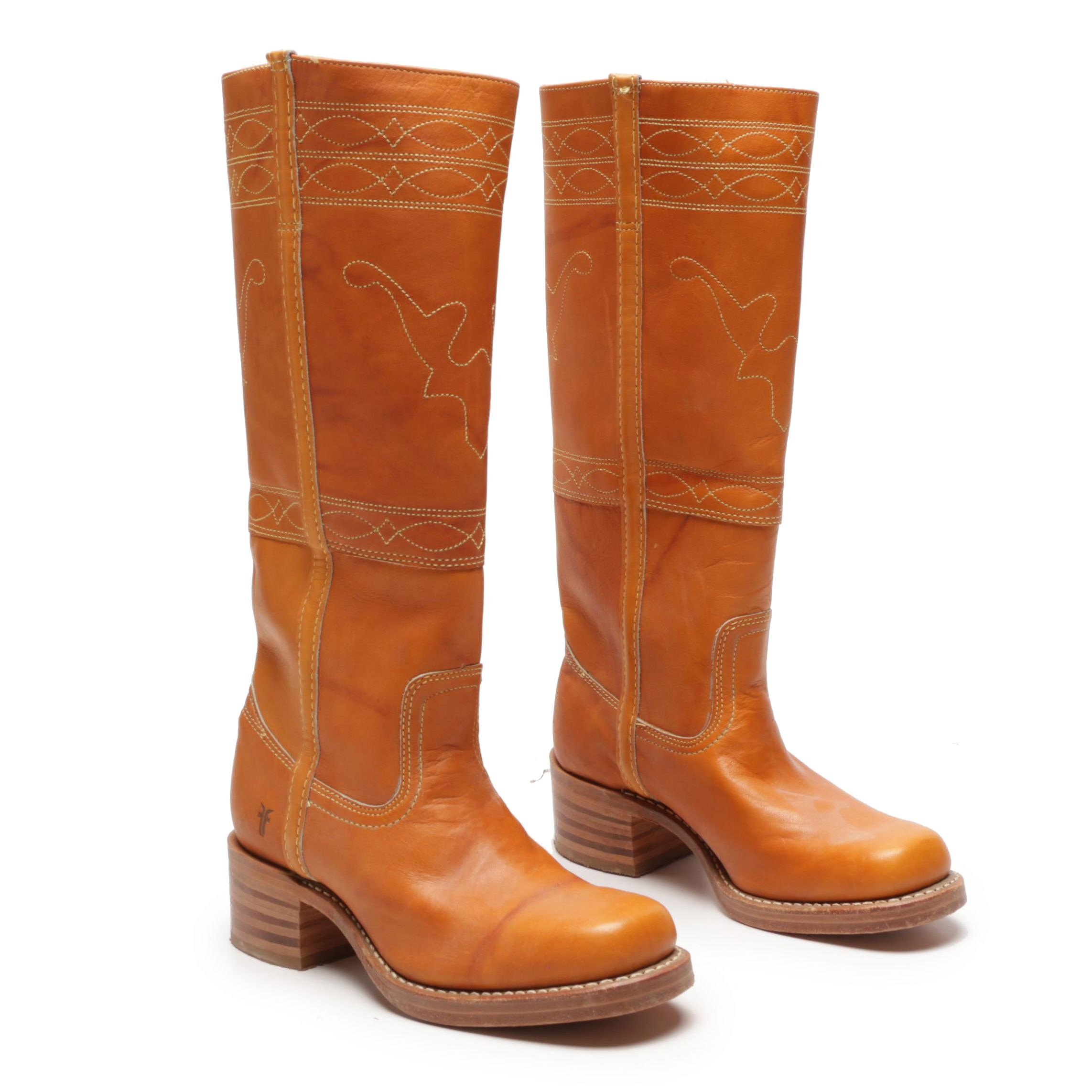 Women's Frye Tan Leather Tall Boots