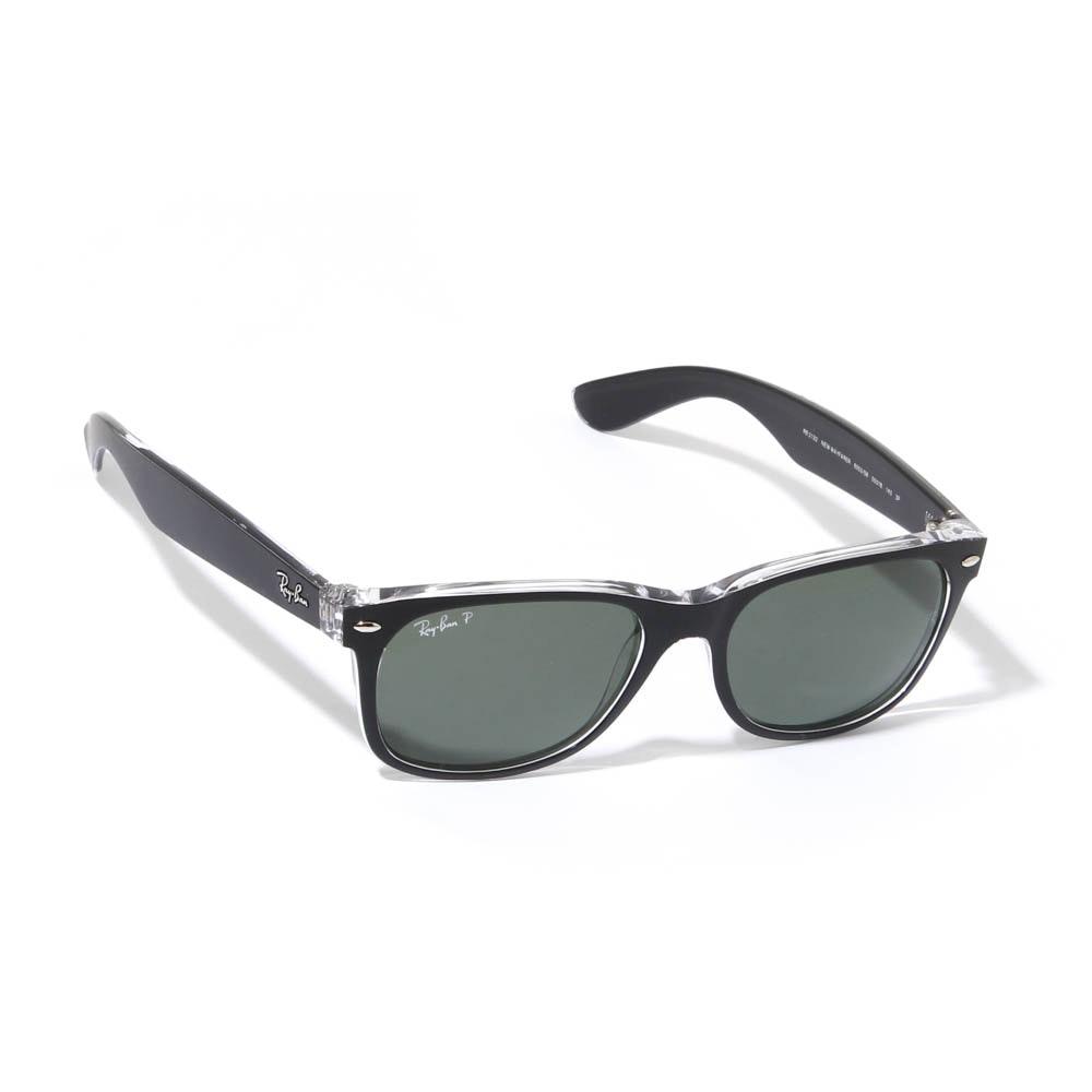 Ray-Ban Polarized New Wayfarer Matte Black and Transparent Polarized Sunglasses