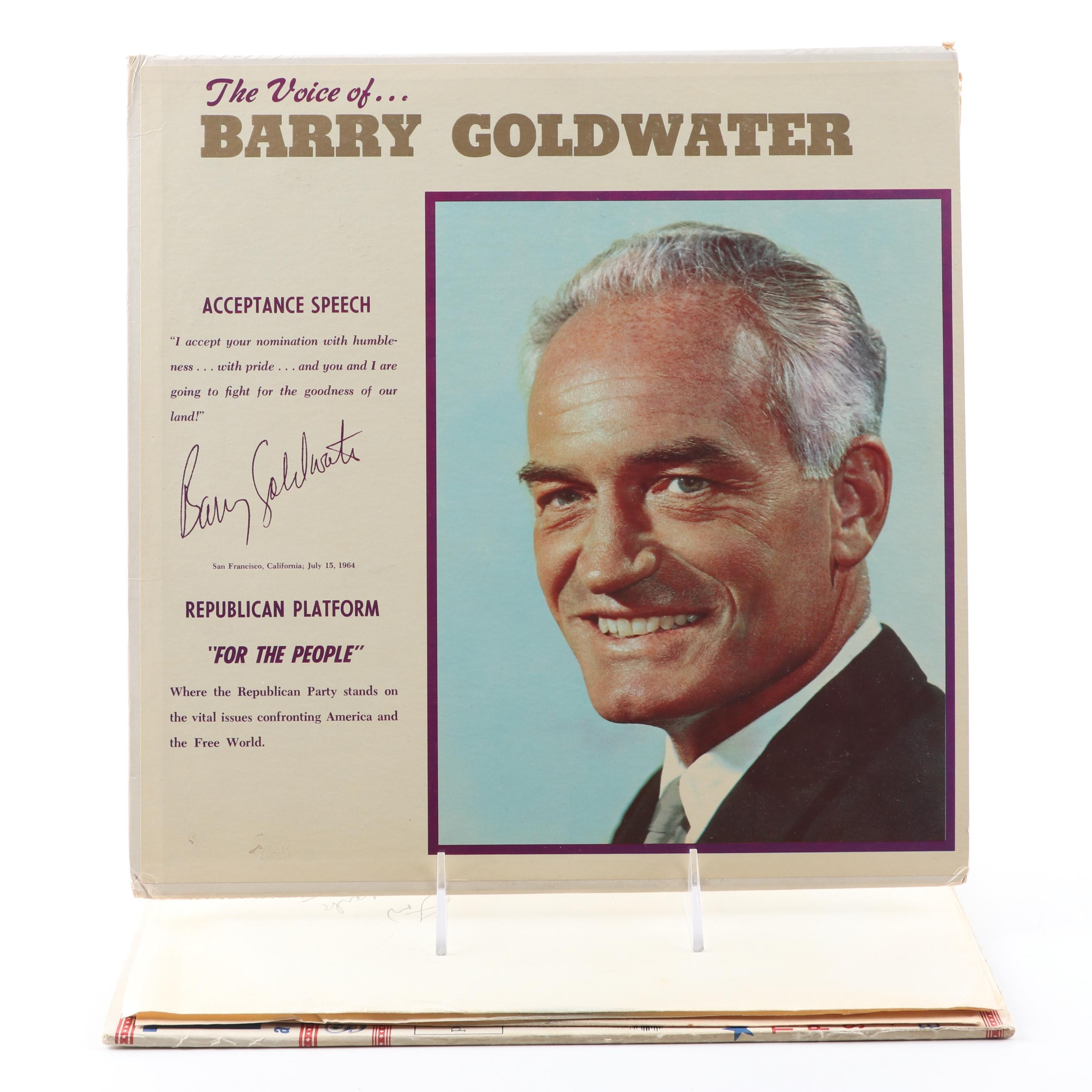 Republican Party Vinyl Records Including Barry Goldwater