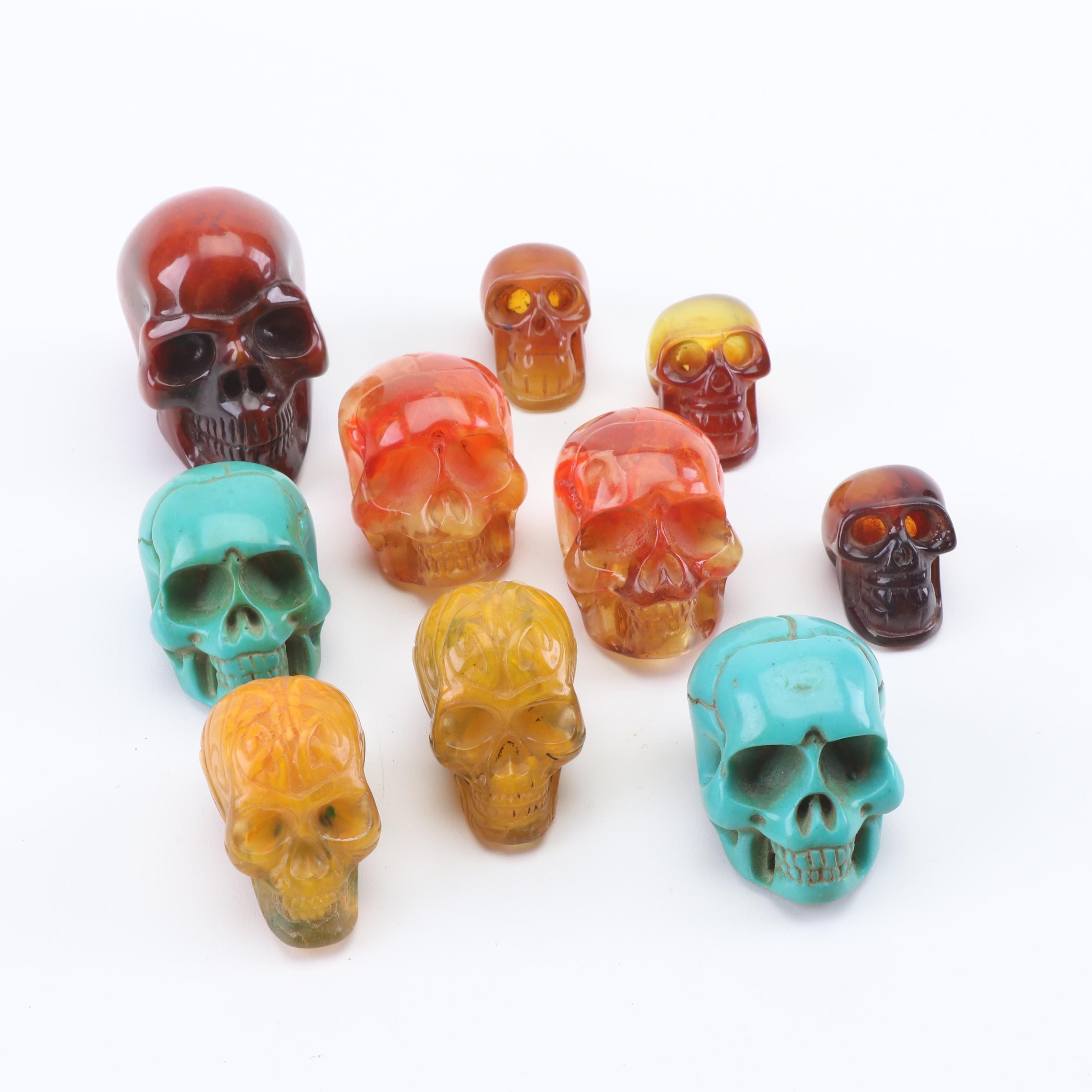 Cast Resin Decorative Skulls