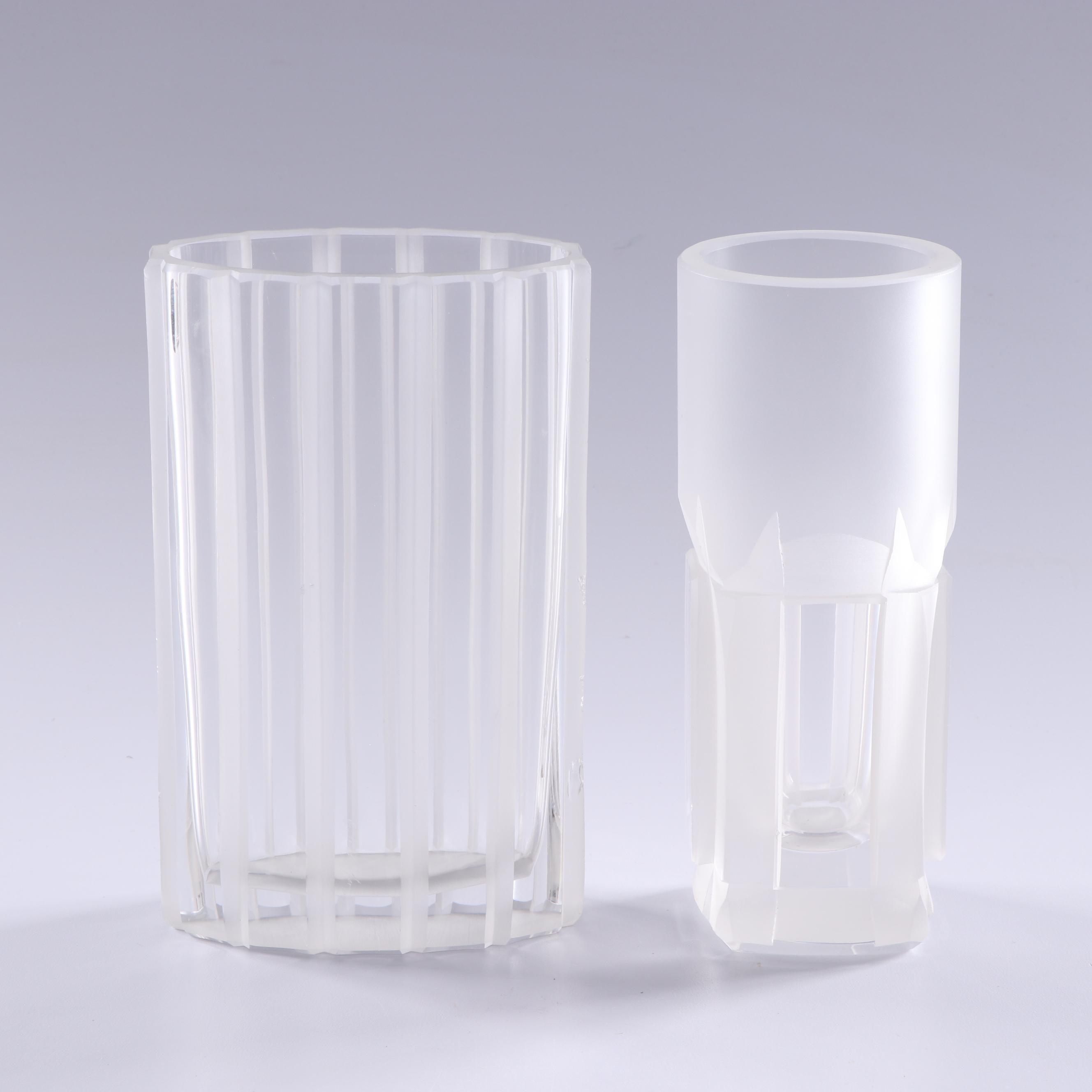 Gernot Schluifer Art Glass Vases, 1975