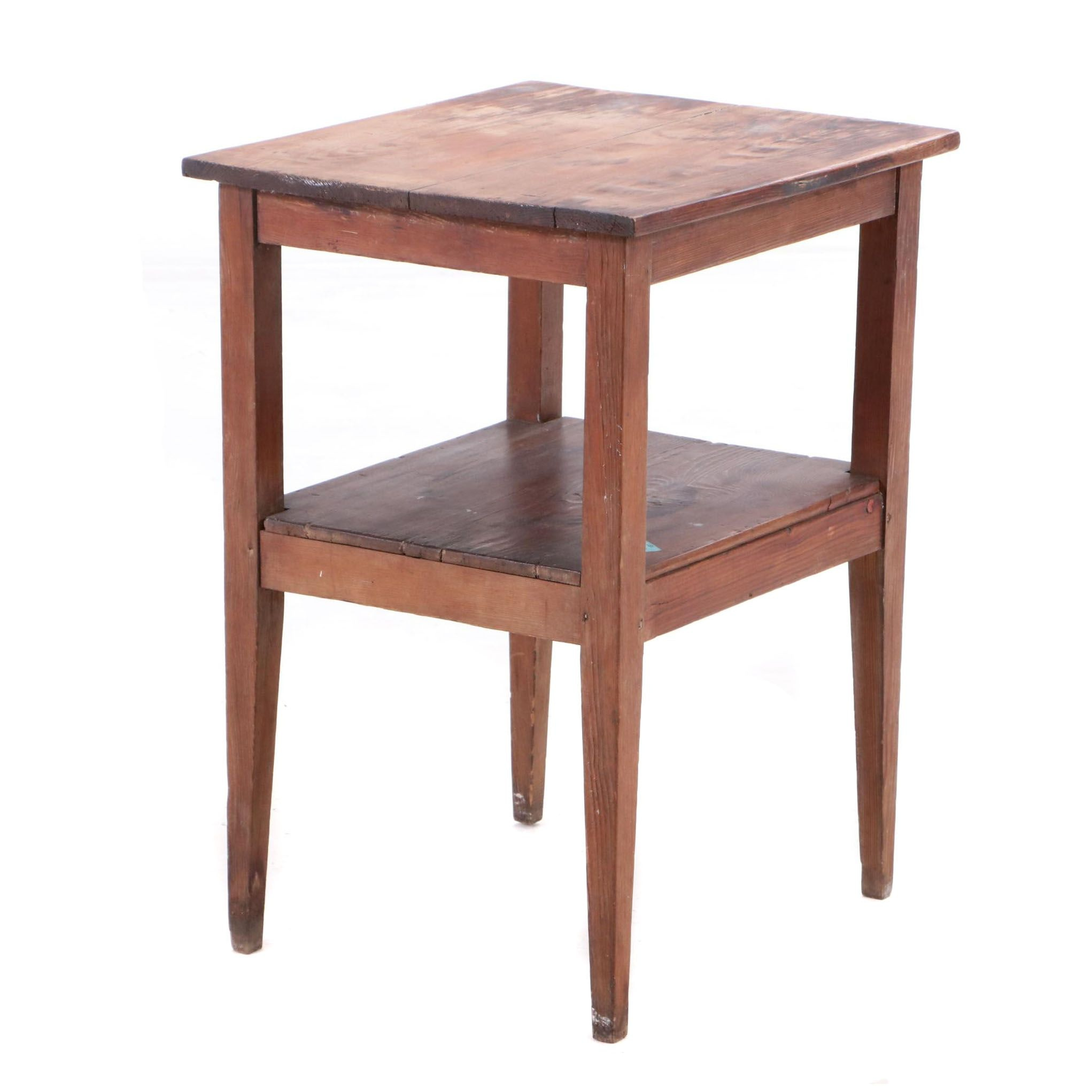 Primitive Southern Pine Occasional Table