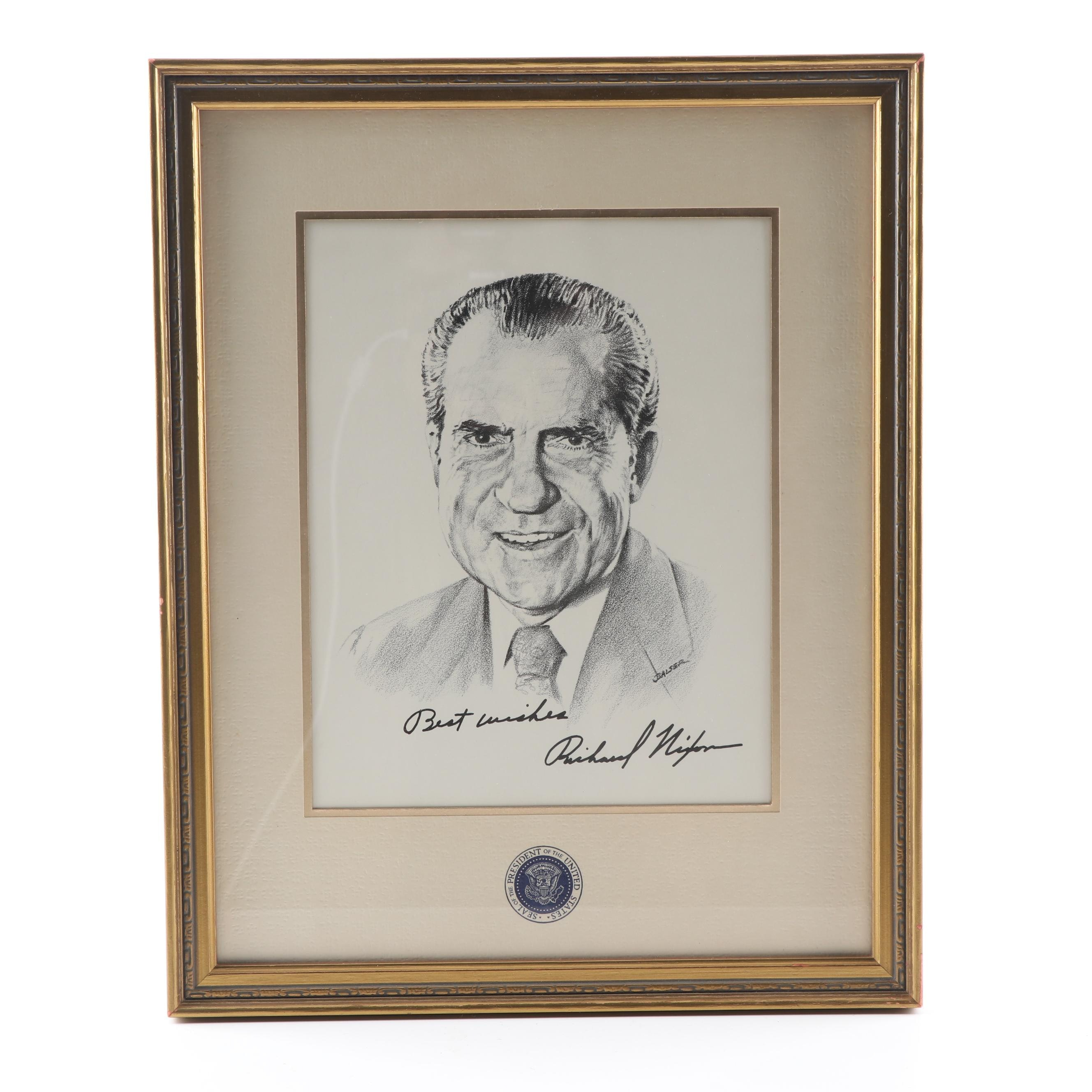 Jalser Offset Lithograph of President Nixon
