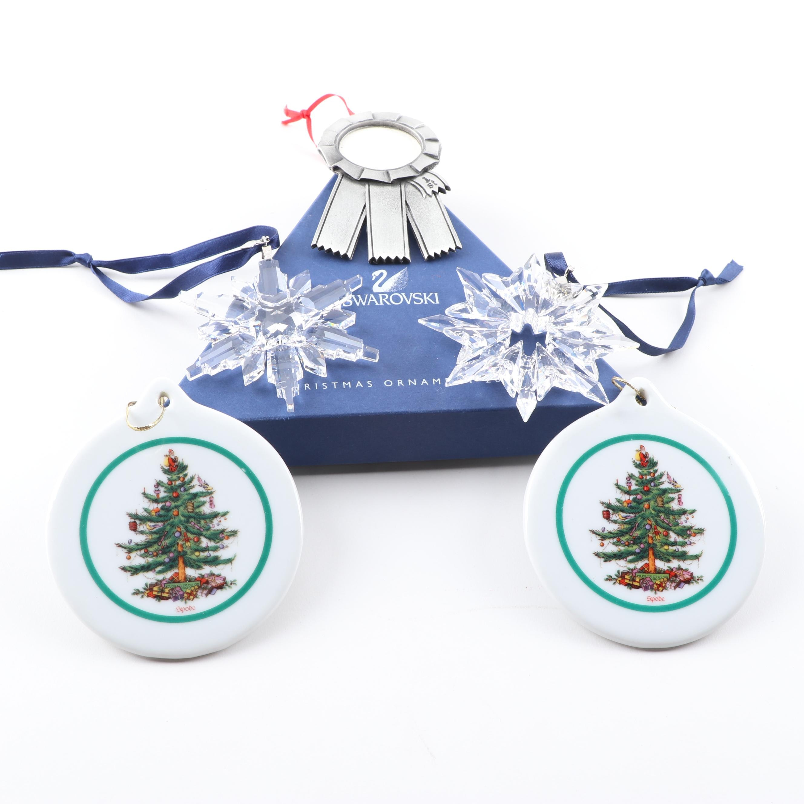 Christmas Ornaments Featuring Swarovski