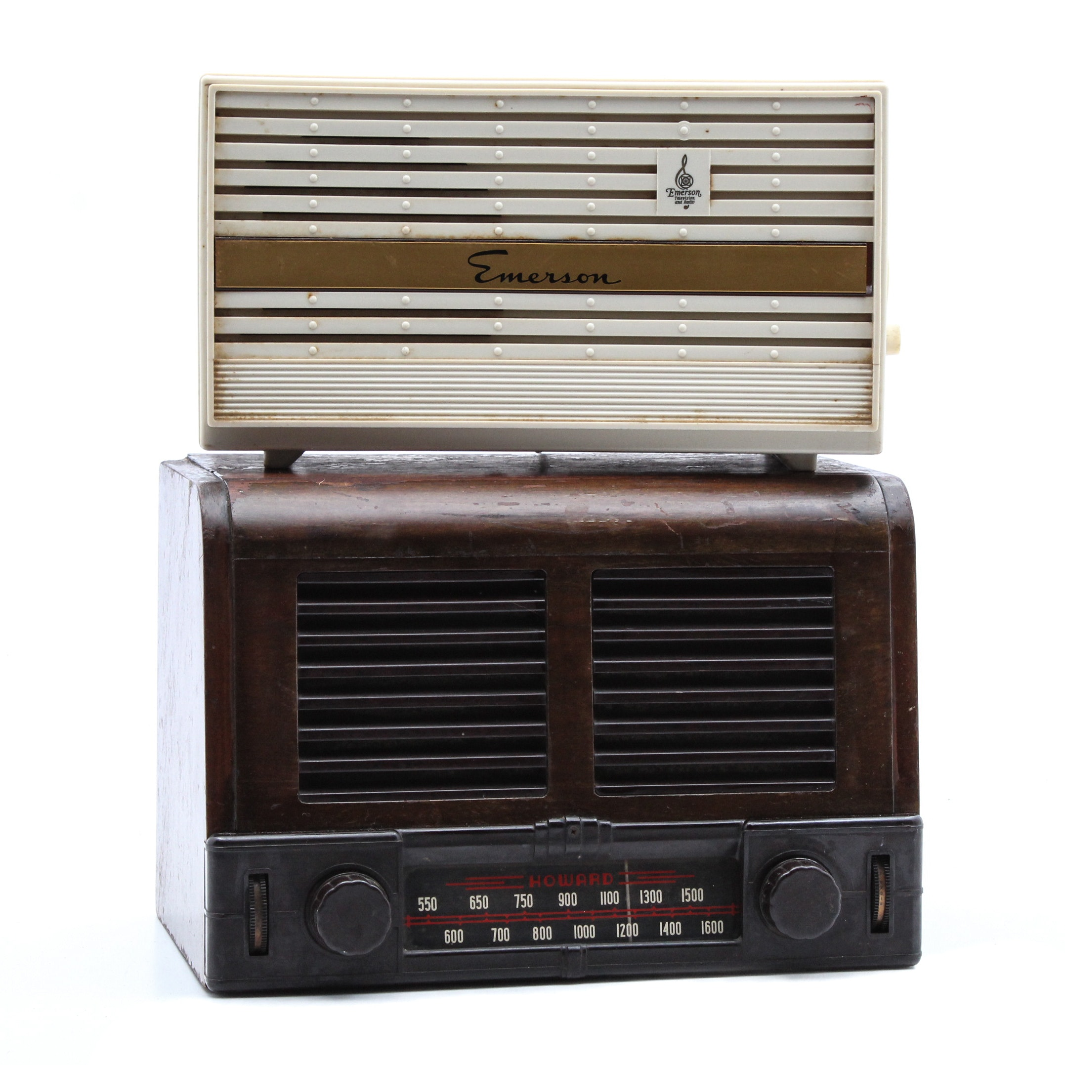 Art Deco Howard and Vintage Emerson Radios