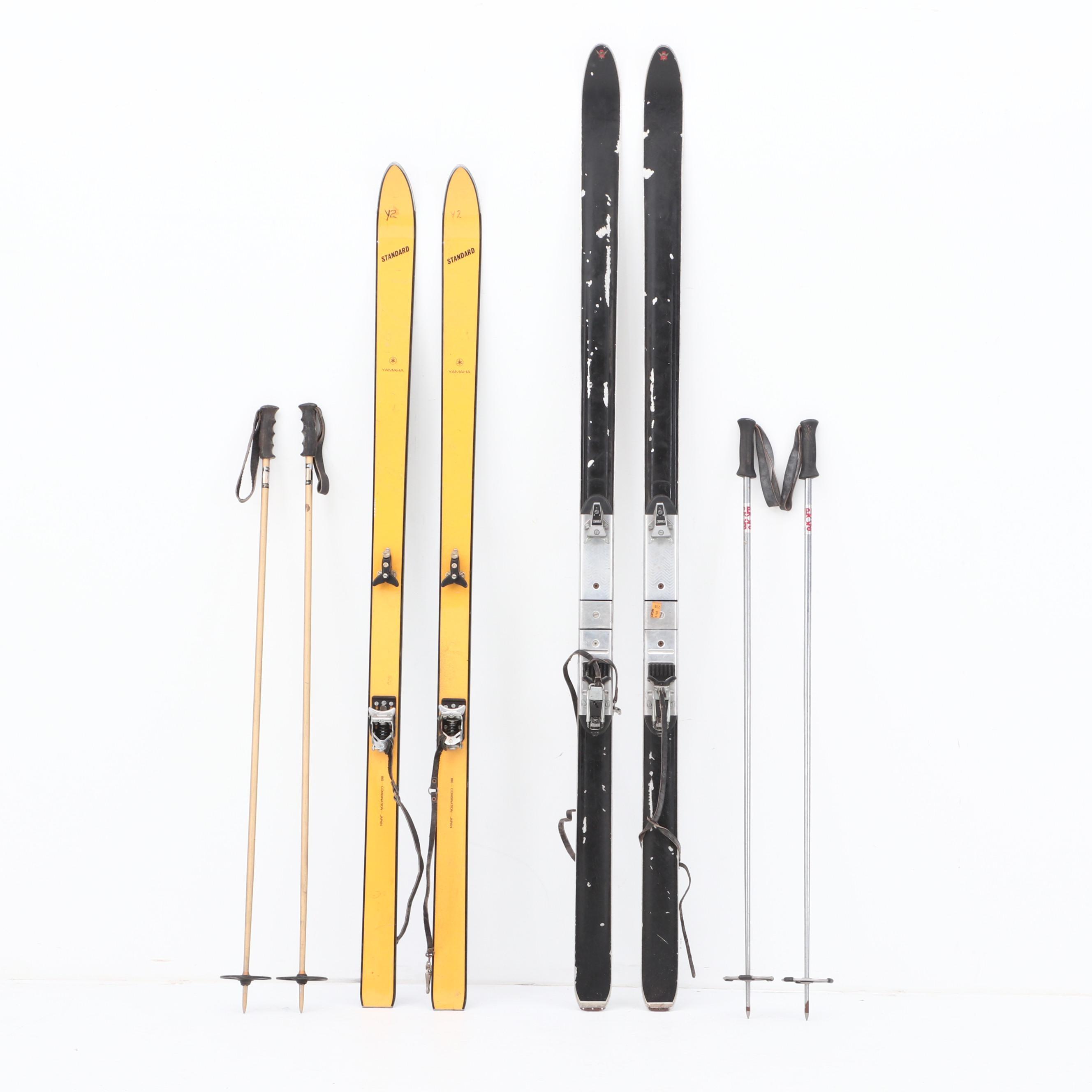 Tyrolia and Yamaha Downhill Snow Skis