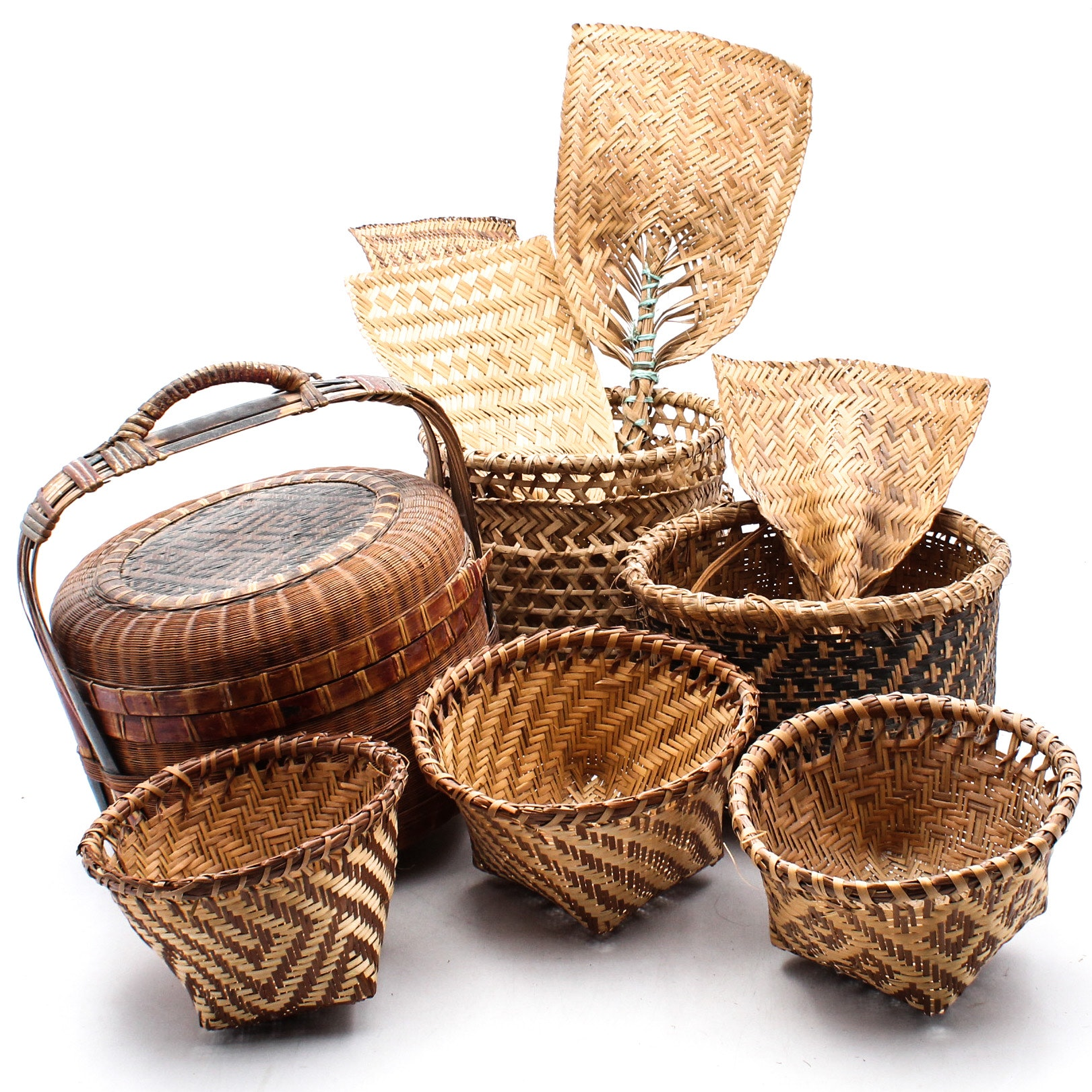 Woven Baskets and Fans
