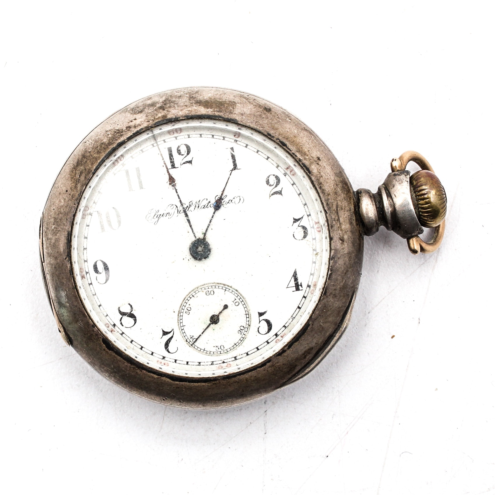 Sterling Silver Elgin Pocket Watch