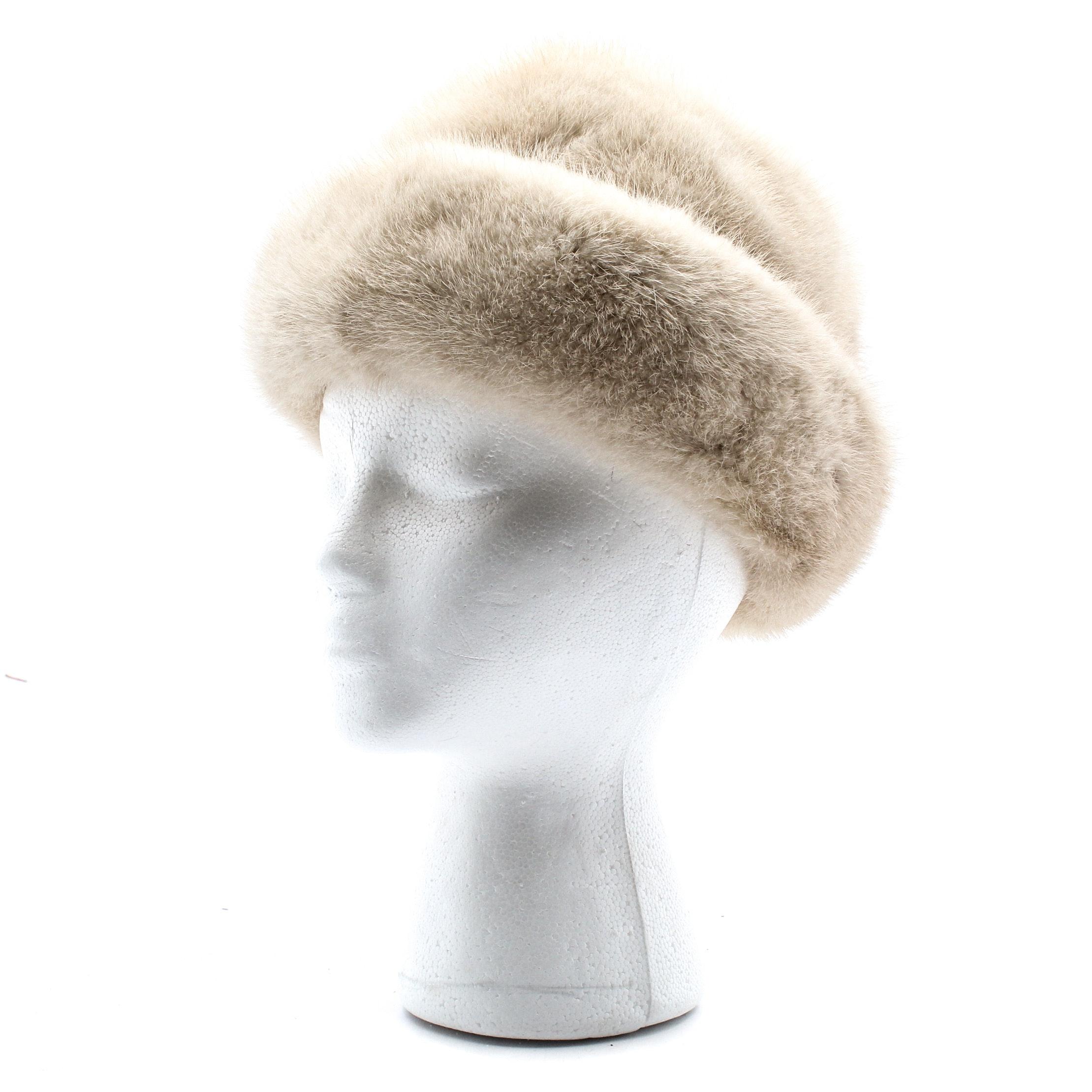 Mink Fur Bowler Hat