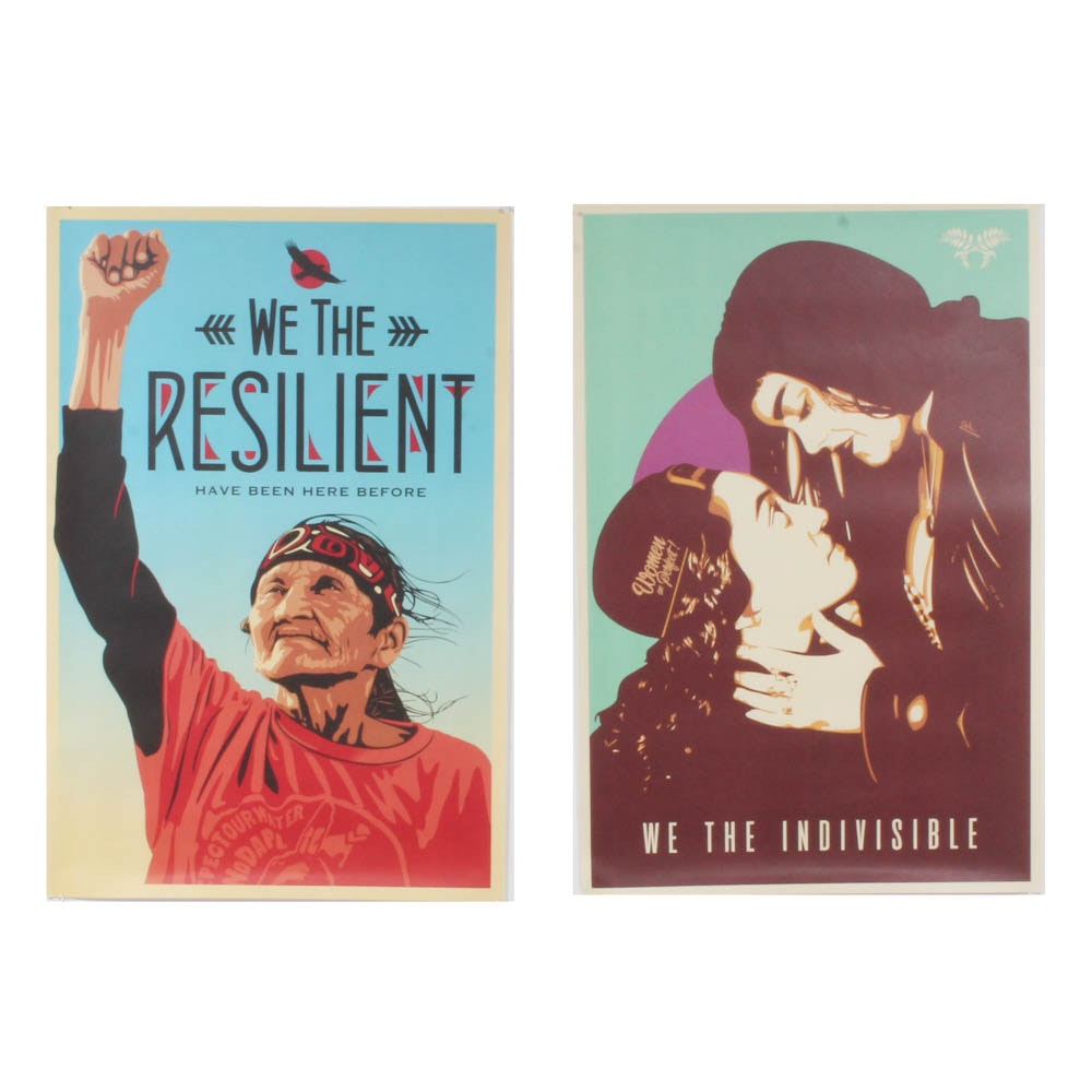 """Jessica Sabogal and Ernesto Yerena Offset Prints """"We the People"""""""