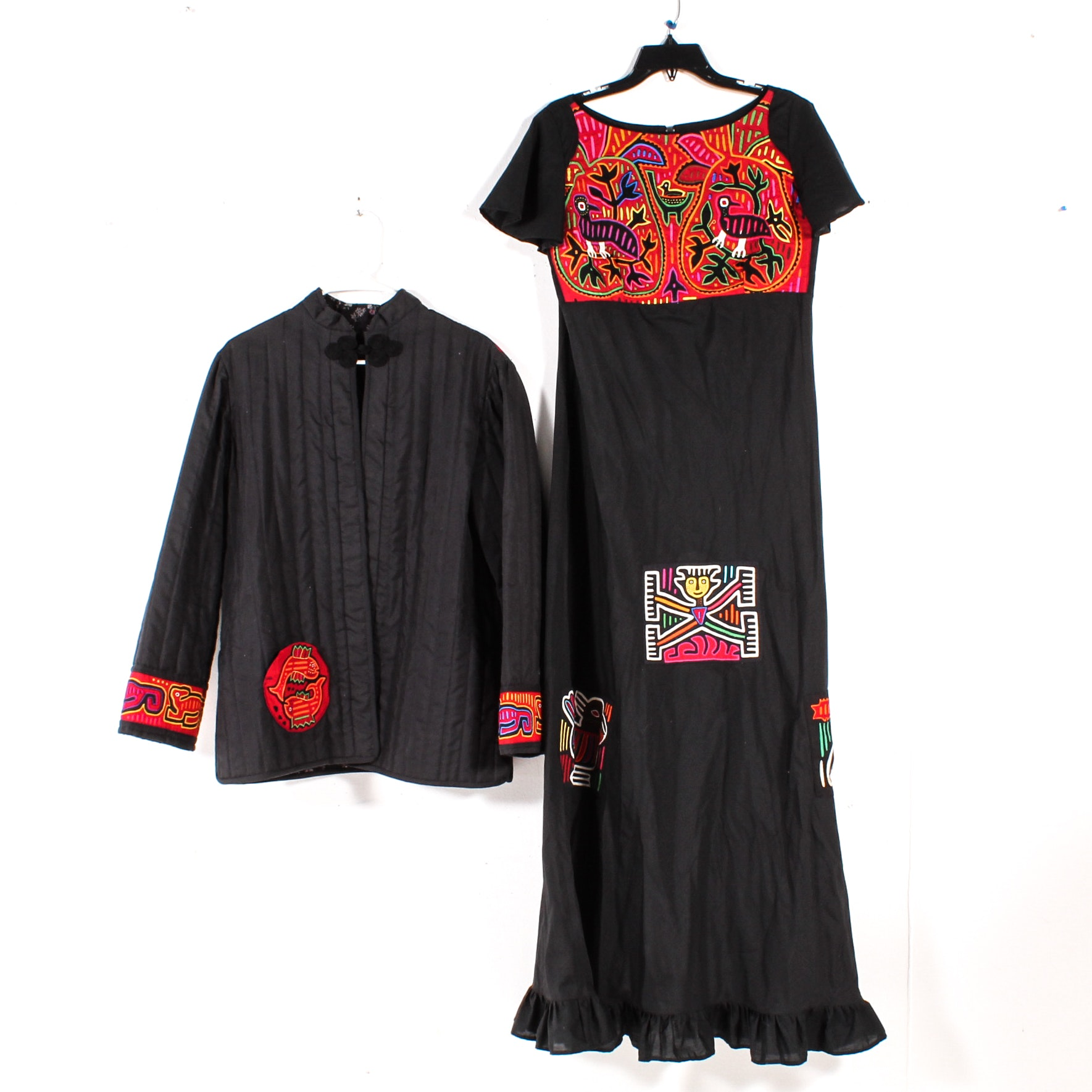 Handmade Jacket and Dress with Panamanian Mola Decorations