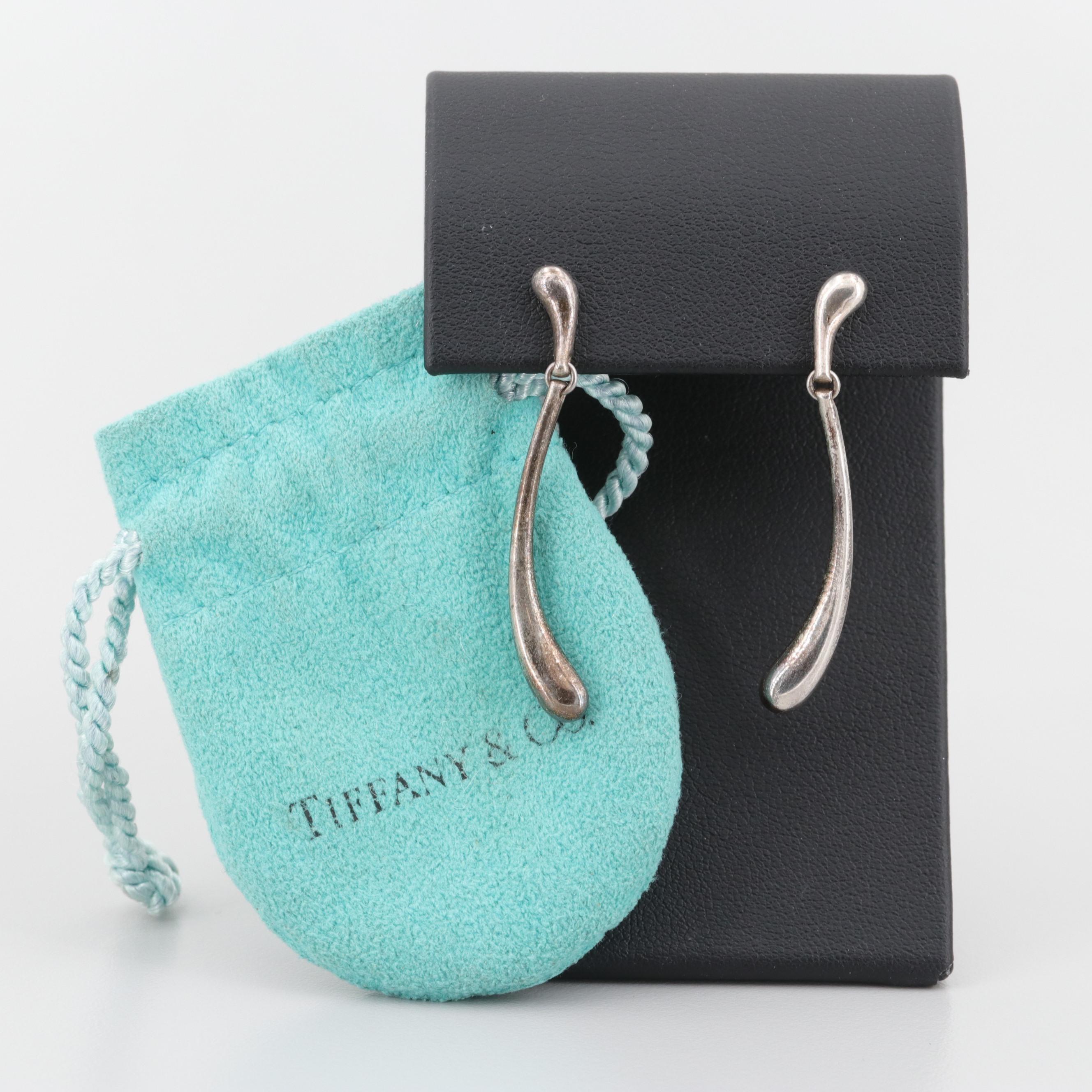 Tiffany & Co. Elsa Peretti Sterling Silver Earrings