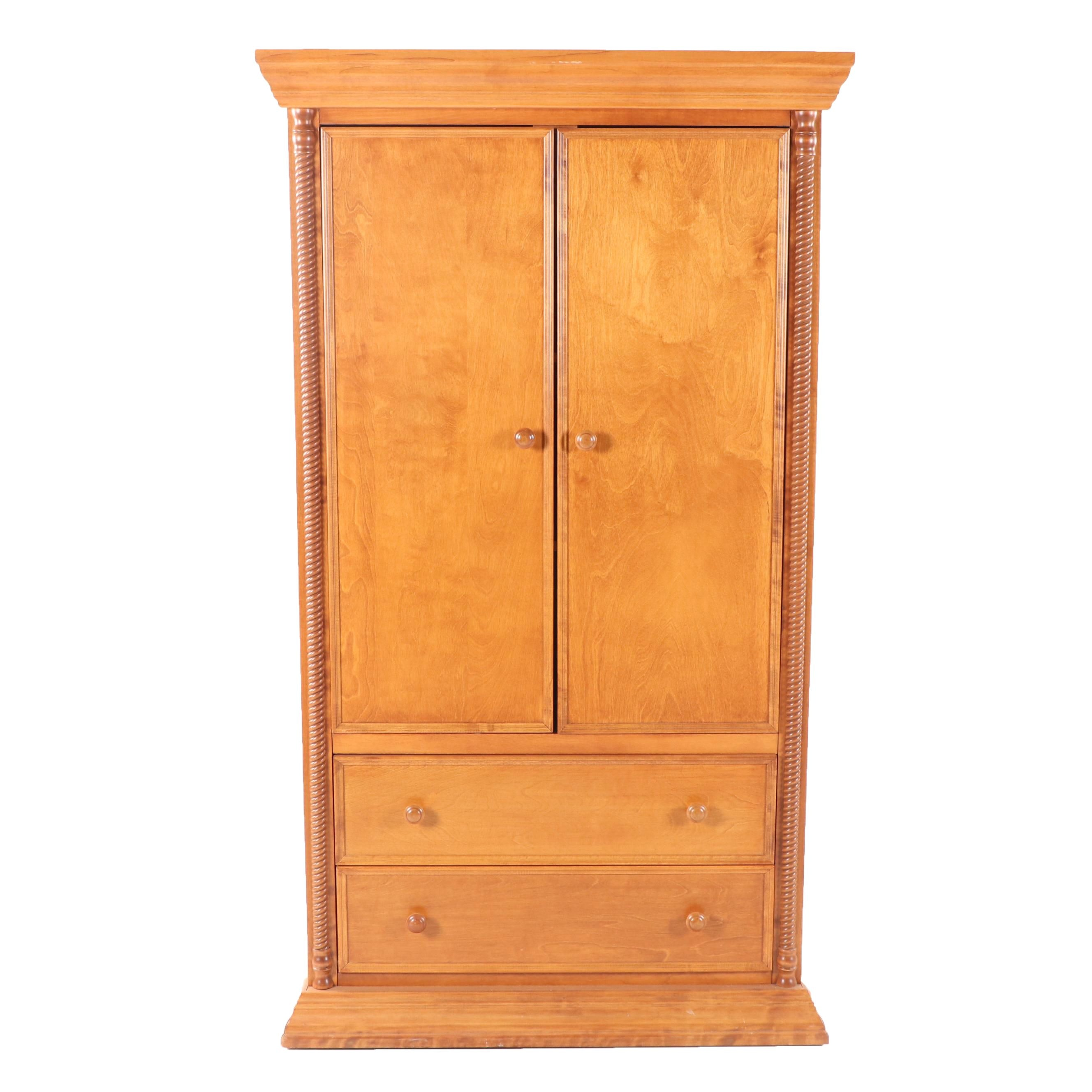 Federal Style Maple Wardrobe by Bellini, 21st Century