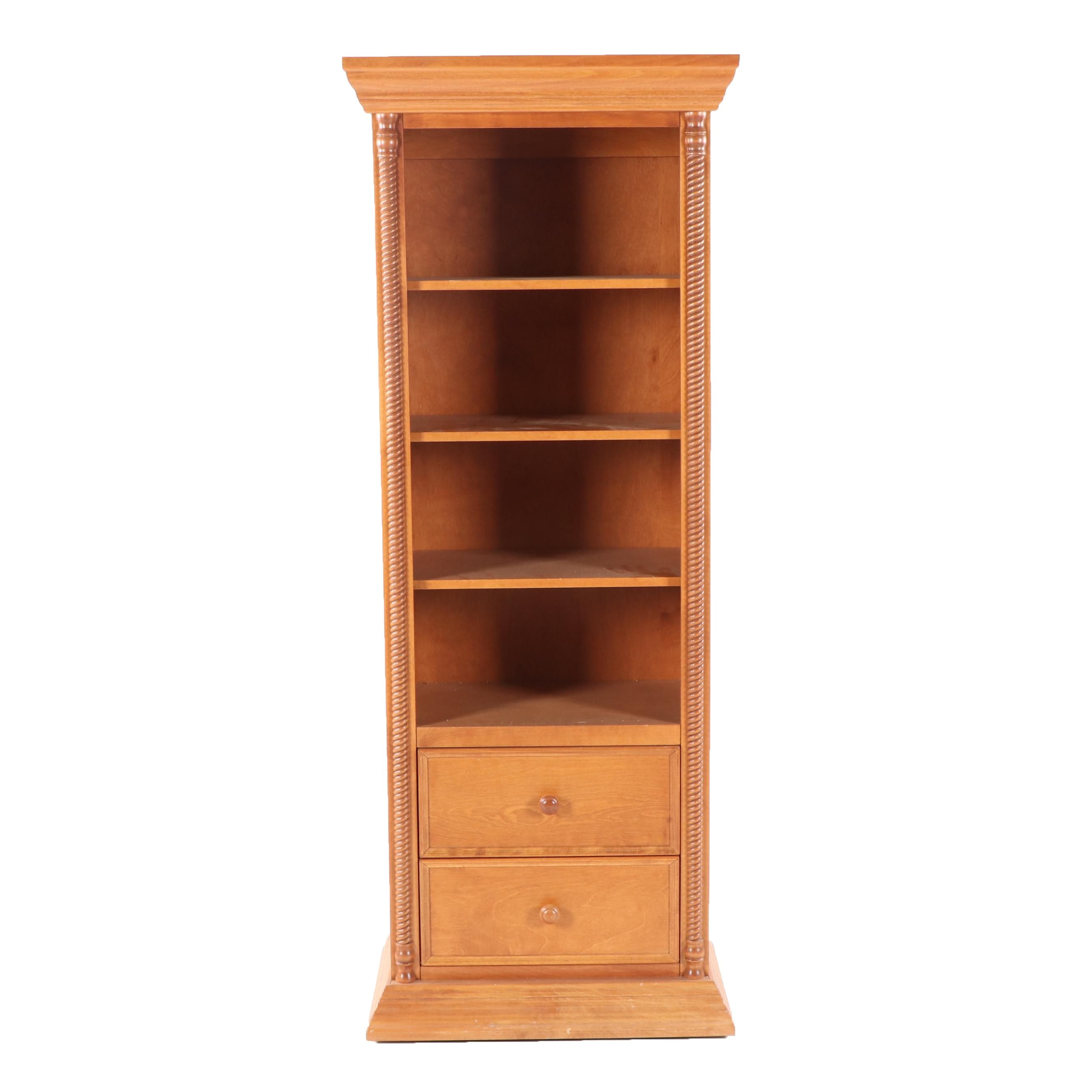 Federal Style Maple Bookcase by Bellini, 21st Century