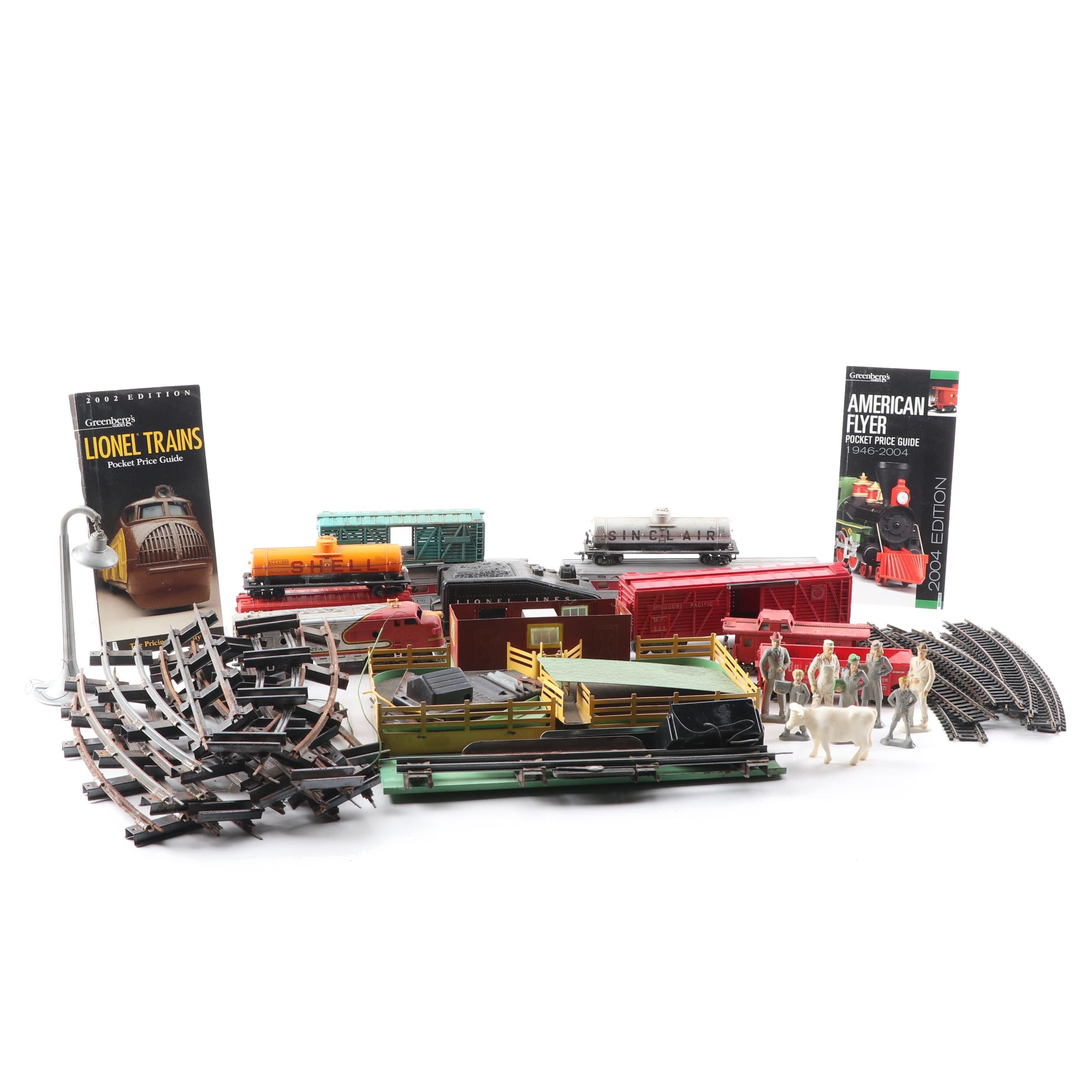 Train Cars and Accessories Including Lionel and American Flyer with Price Guides