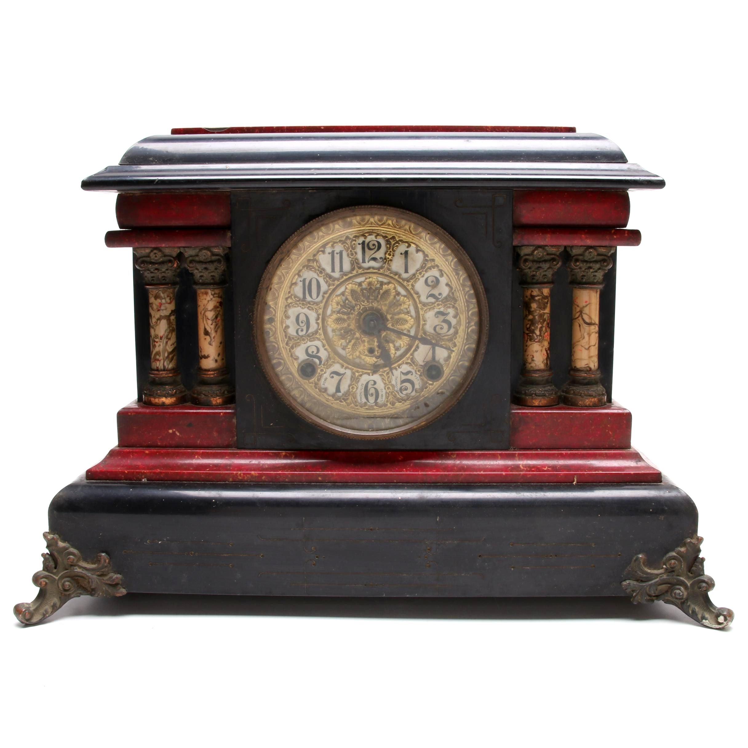 Seth Thomas Adamantine Mantel Clock, Late 19th Century