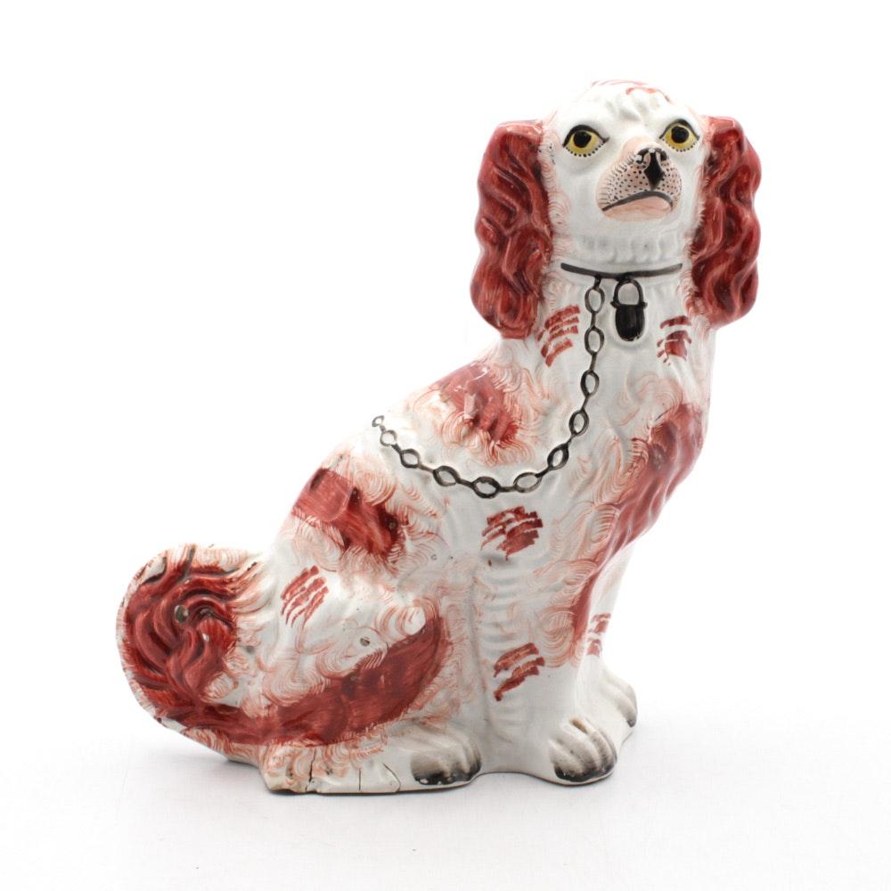 Staffordshire Style Ceramic Spaniel Figurine