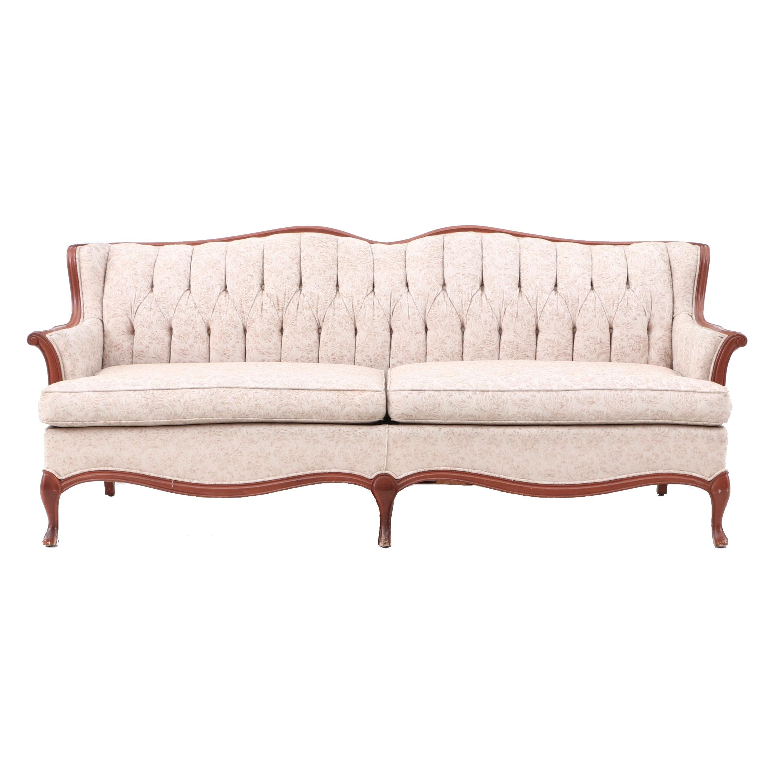 Victorian-Style Tufted Back Sofa