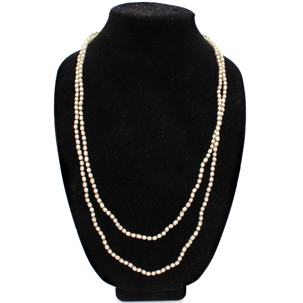 Miriam Haskell Imitation Pearl Necklace