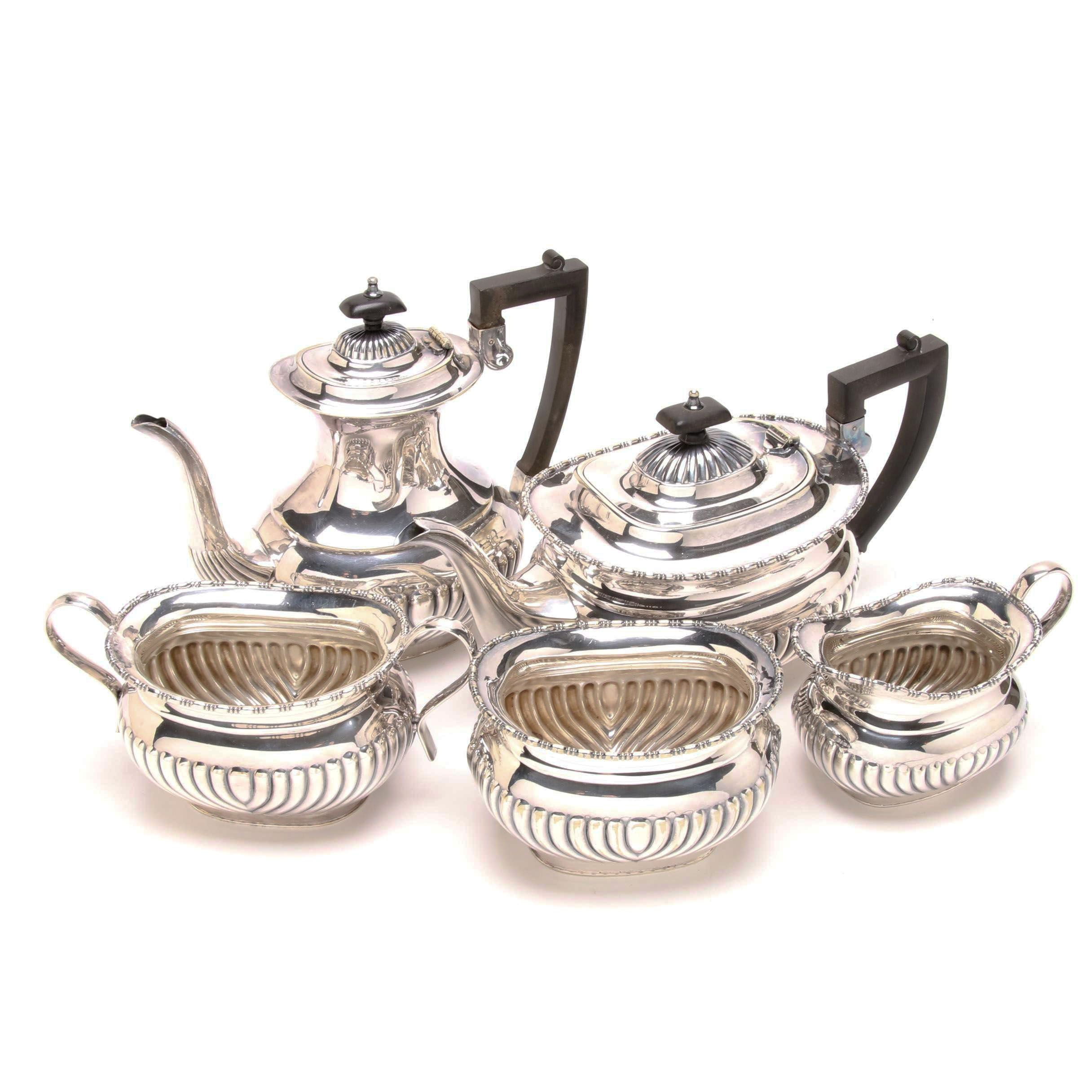 William Adams Sheffield Silver Plate Tea and Coffee Set