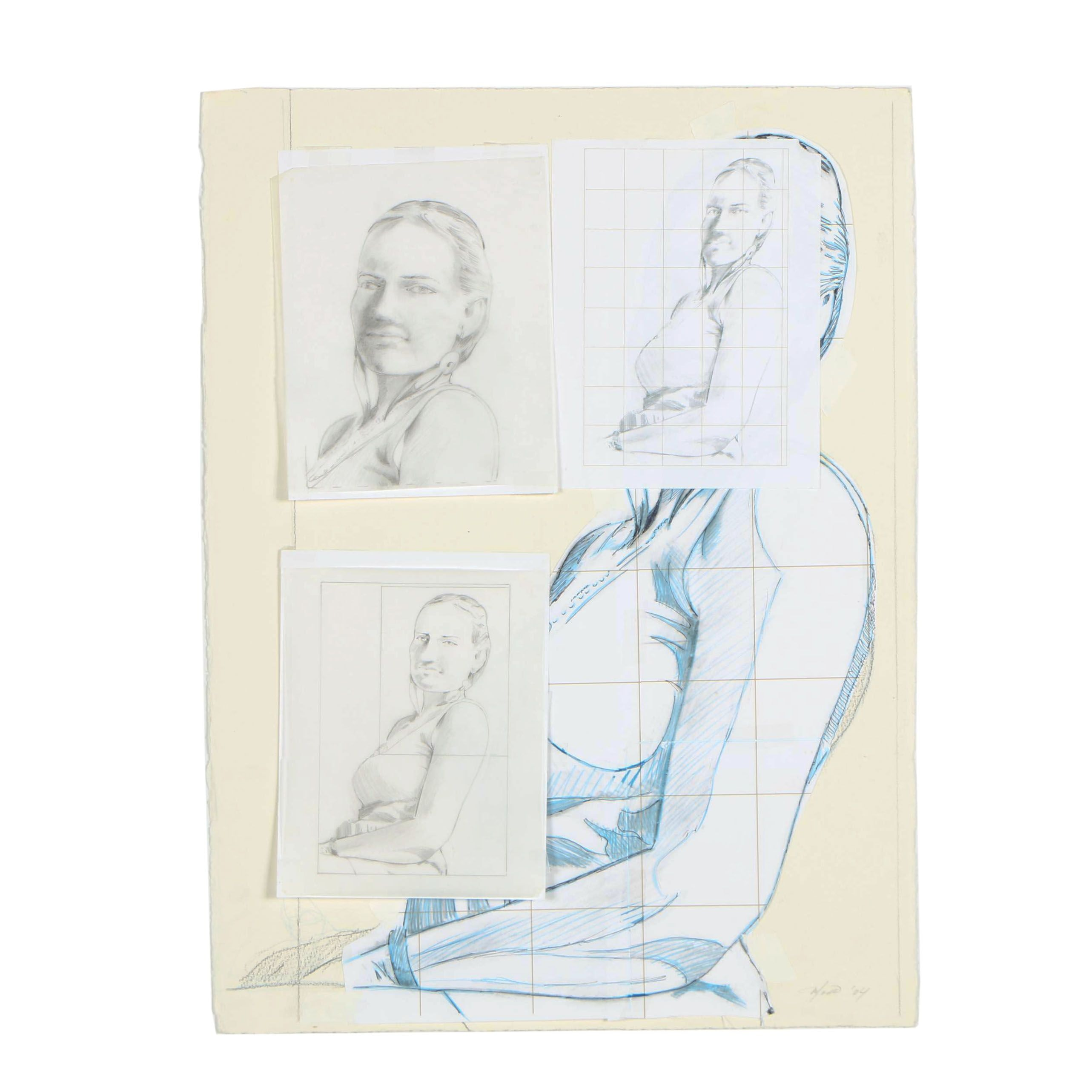Ricardo Morin 2004 Mixed Media Drawings