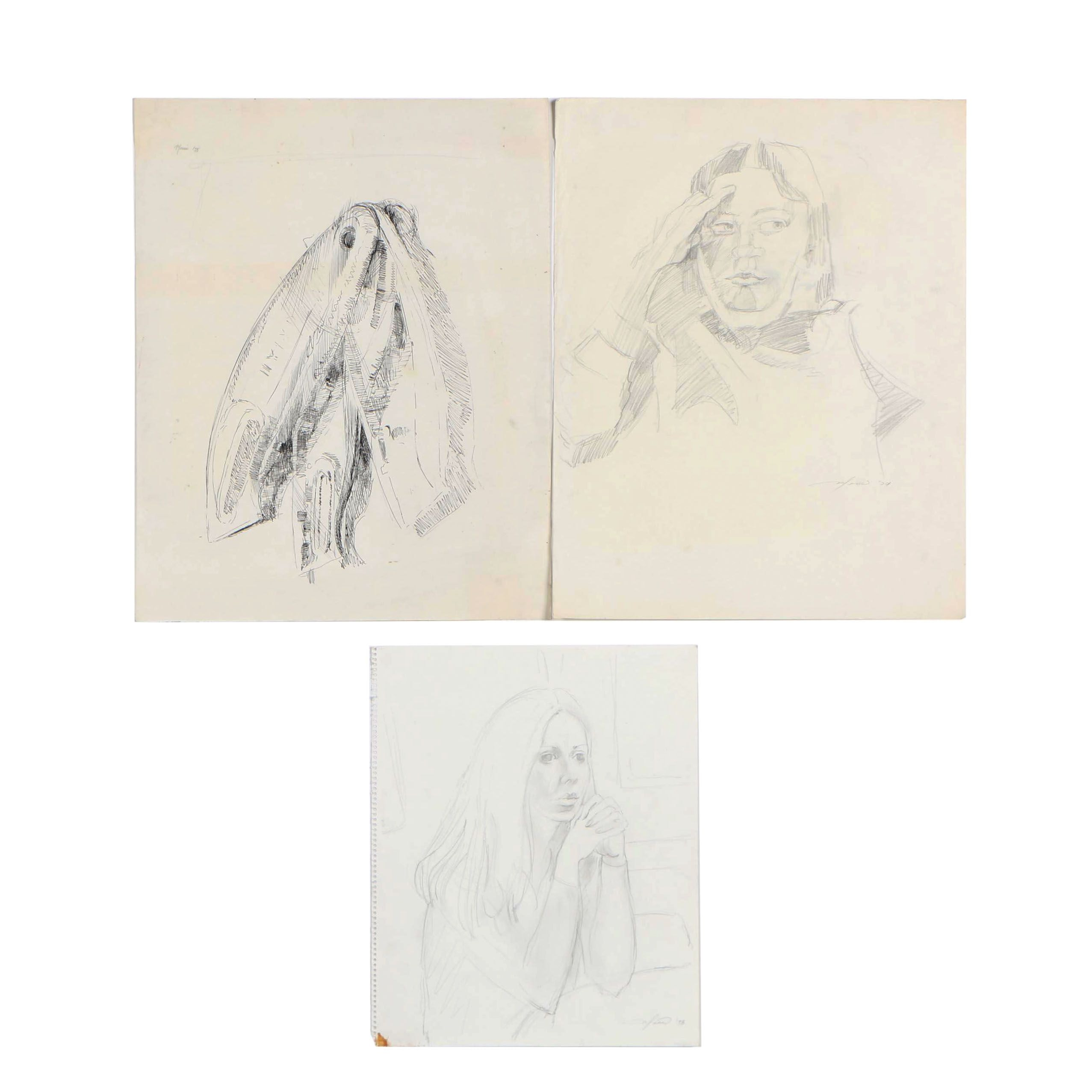 Ricardo Morin 1978-1998 Ink and Graphite Drawings